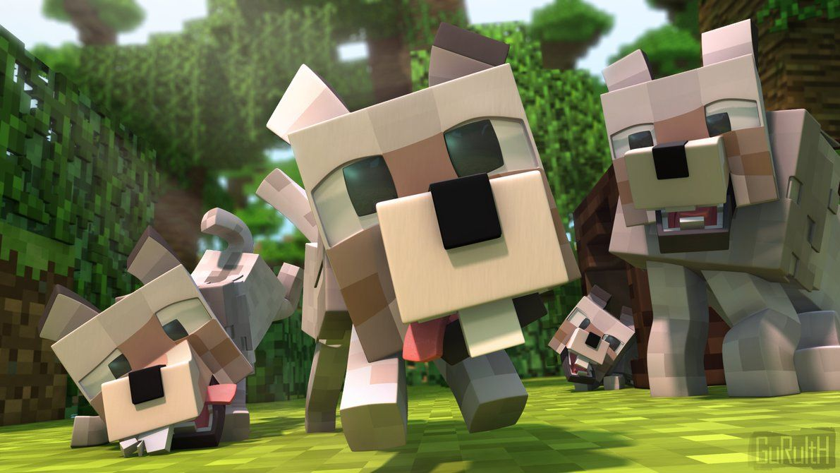 1191x670 Minecraft animated wolves. | Minecraft songs, Minecraft ...