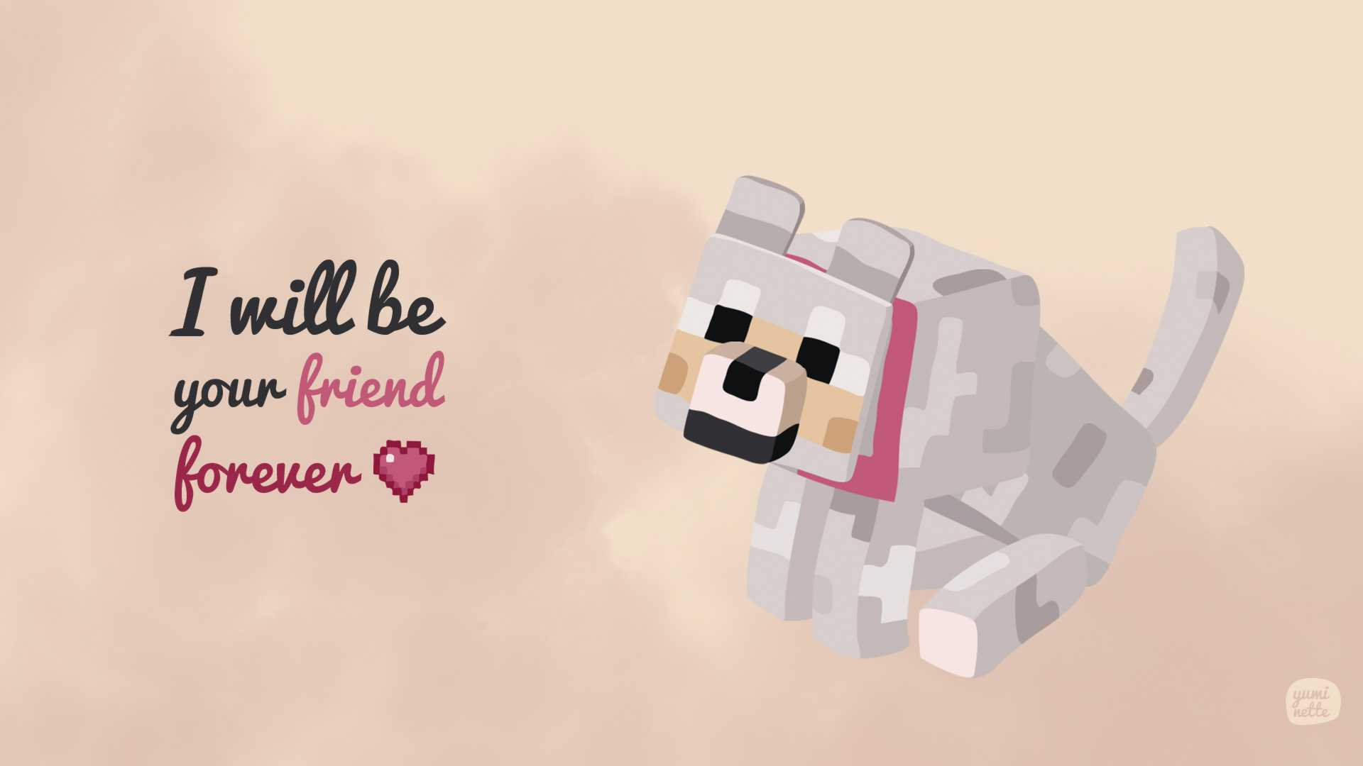 1920x1080 Minecraft Dog Wallpapers