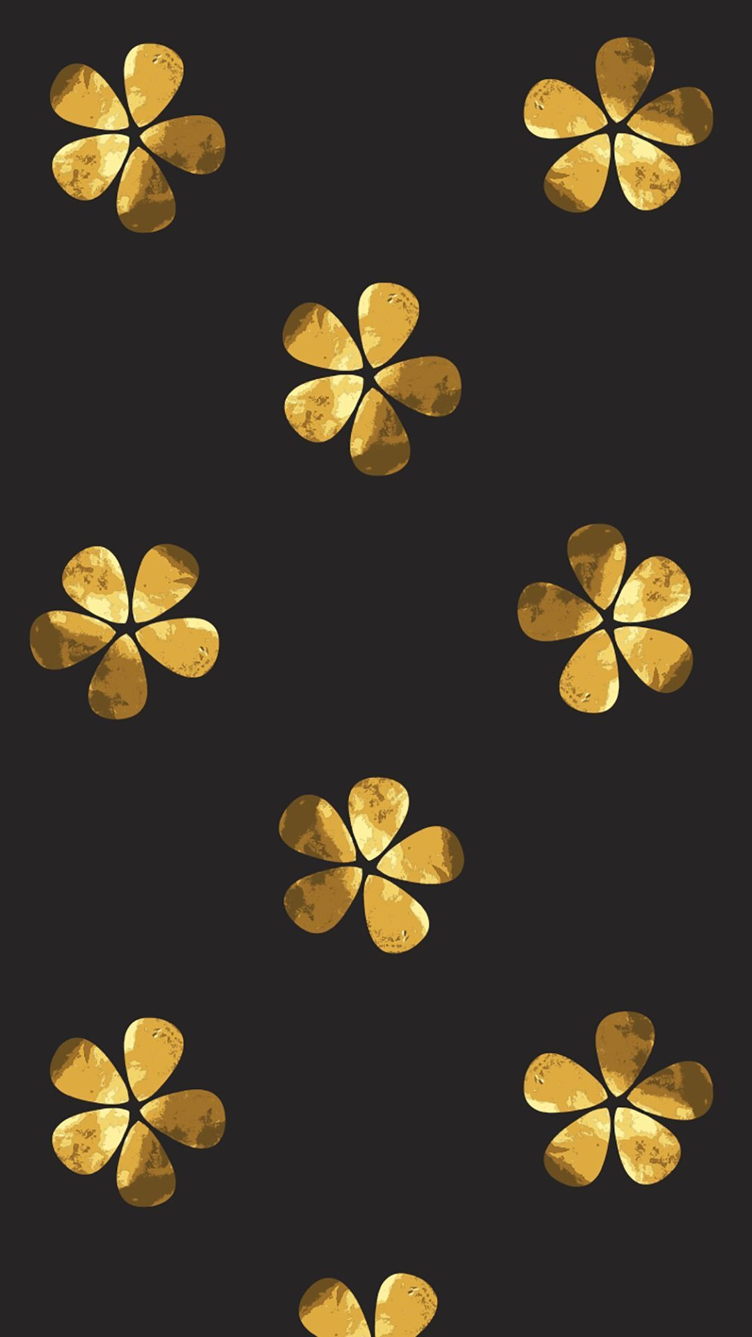 1080x1920 Black and gold flowers | Aesthetic wallpapers, Black, gold ...