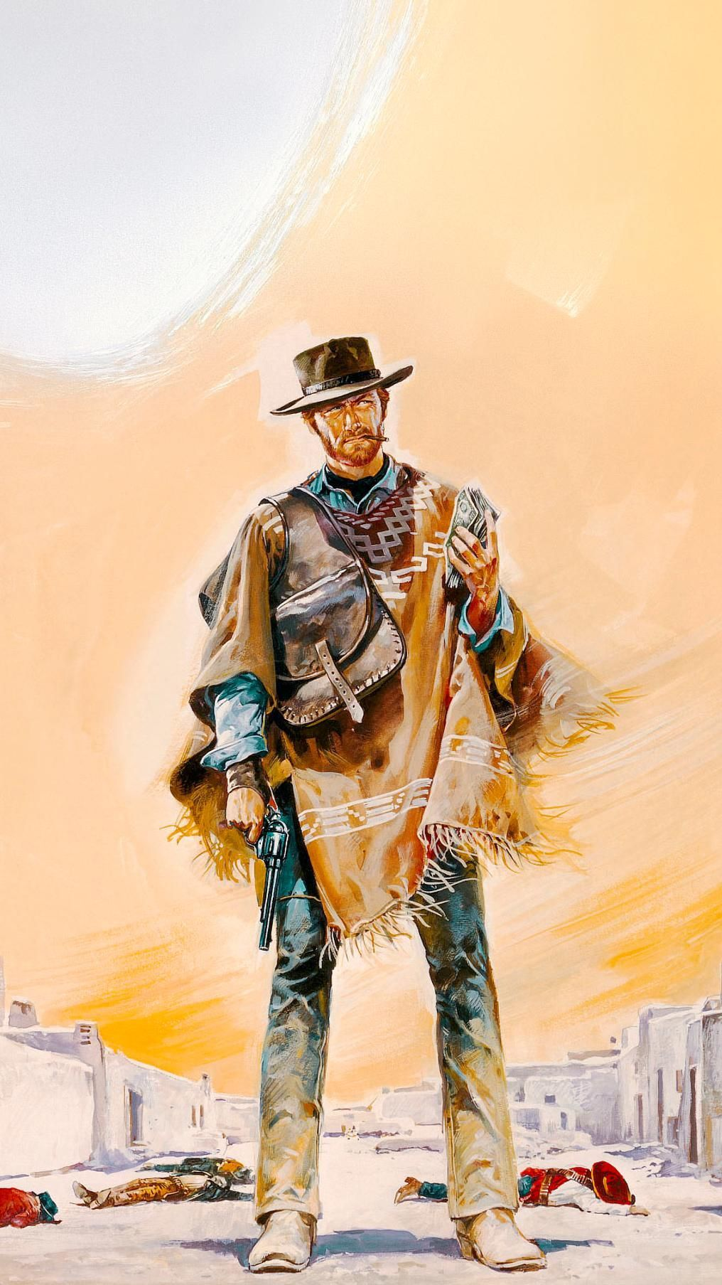 1016x1807 A Fistful of Dollars (1964) Phone Wallpaper | Eastwood ...