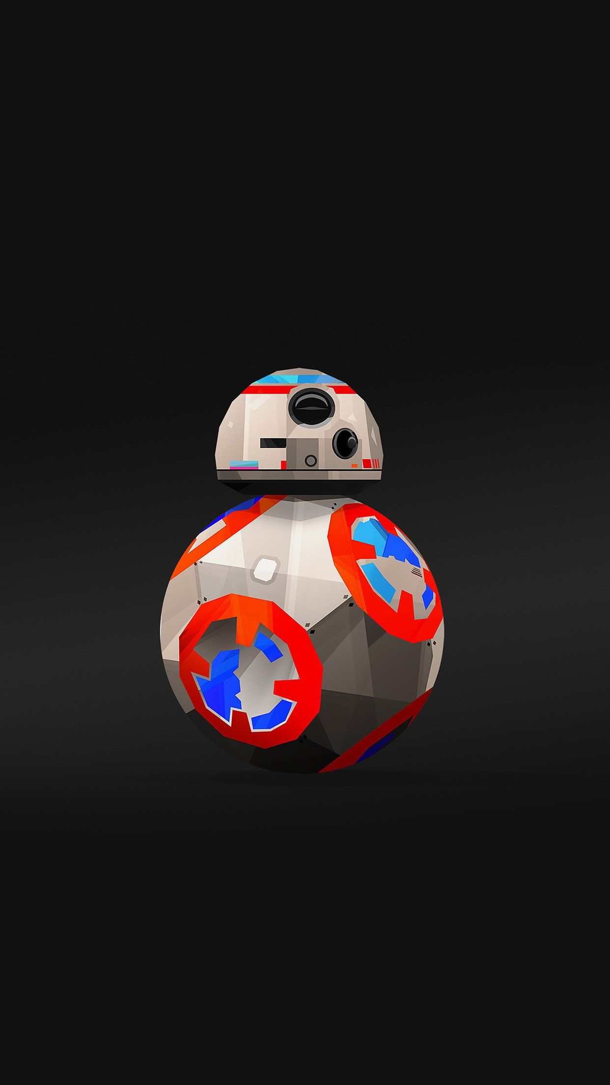 1242x2208 Bb 8 Droid Starwars Robot Art Film Android wallpaper - Android HD ...