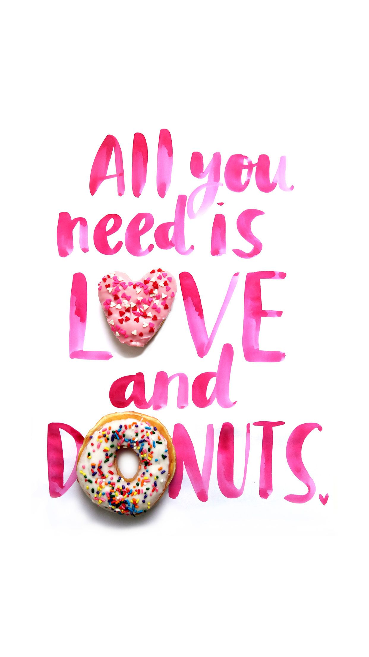 1242x2208 Valentine's Day Themed Mobile Wallpapers from Dunkin' Donuts ...