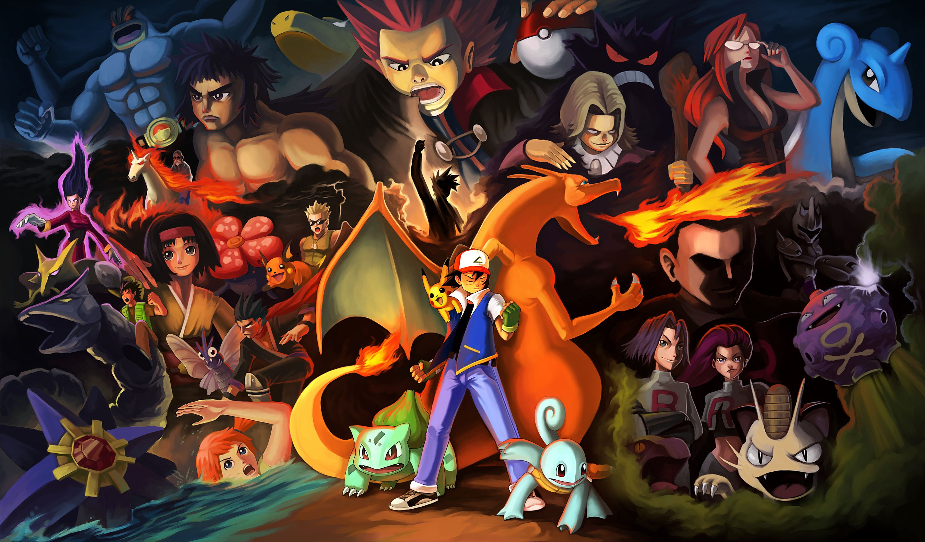 3000x1758 11 Team Rocket HD Wallpapers | Background Images - Wallpaper Abyss