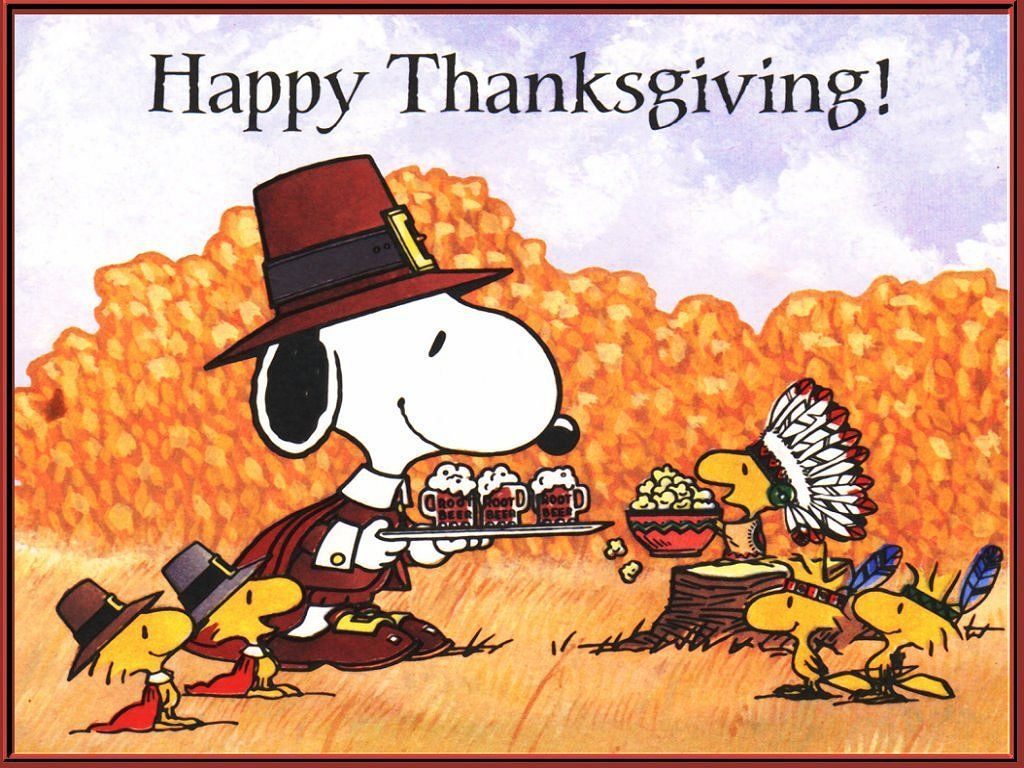 1024x768 charlie brown thanksgiving wallpaper   Happy Thanksgiving Wallpaper ...