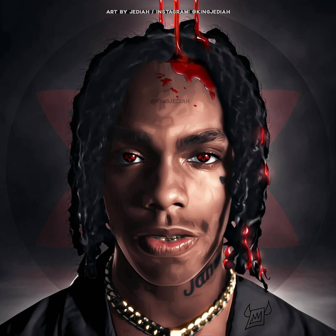 1080x1080 YNW Melly Cartoon Wallpapers