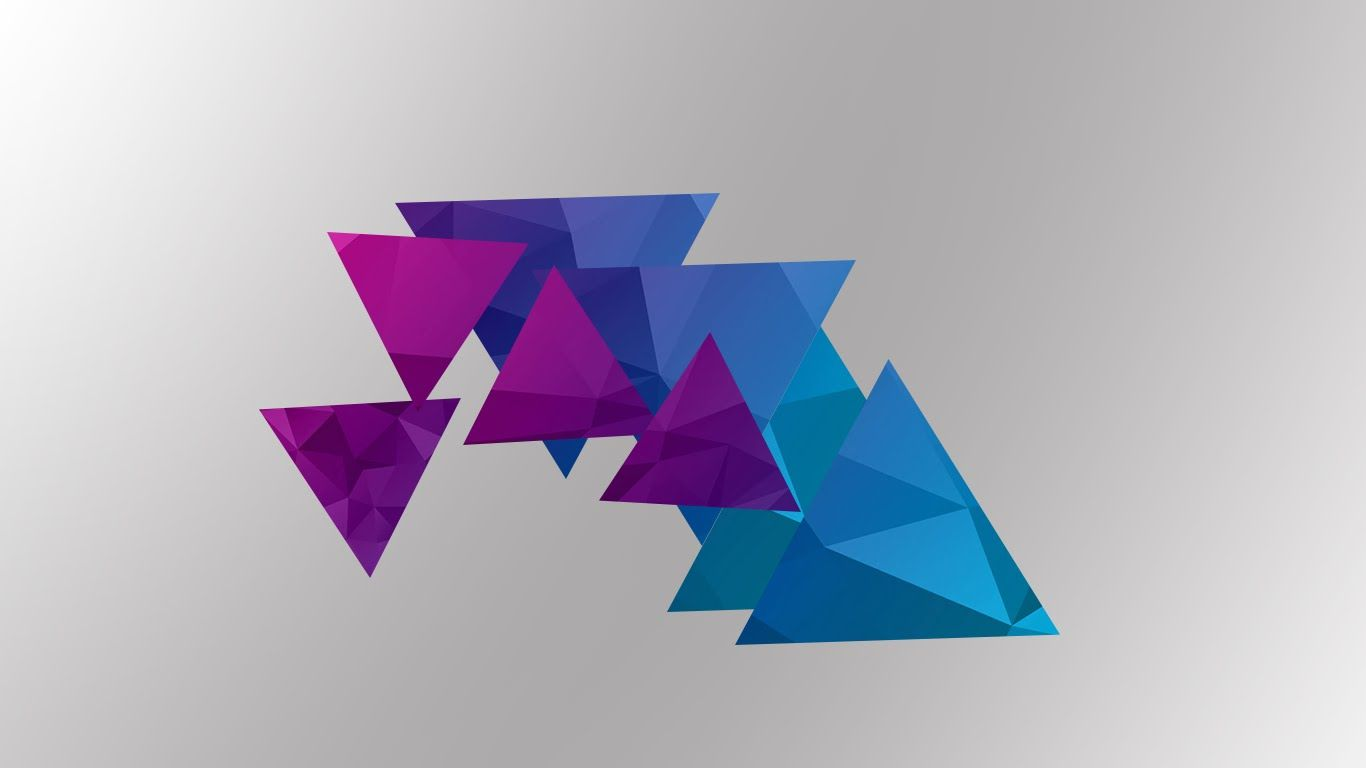 1366x768 Triangular Wallpaper Photoshop Speed Art - YouTube