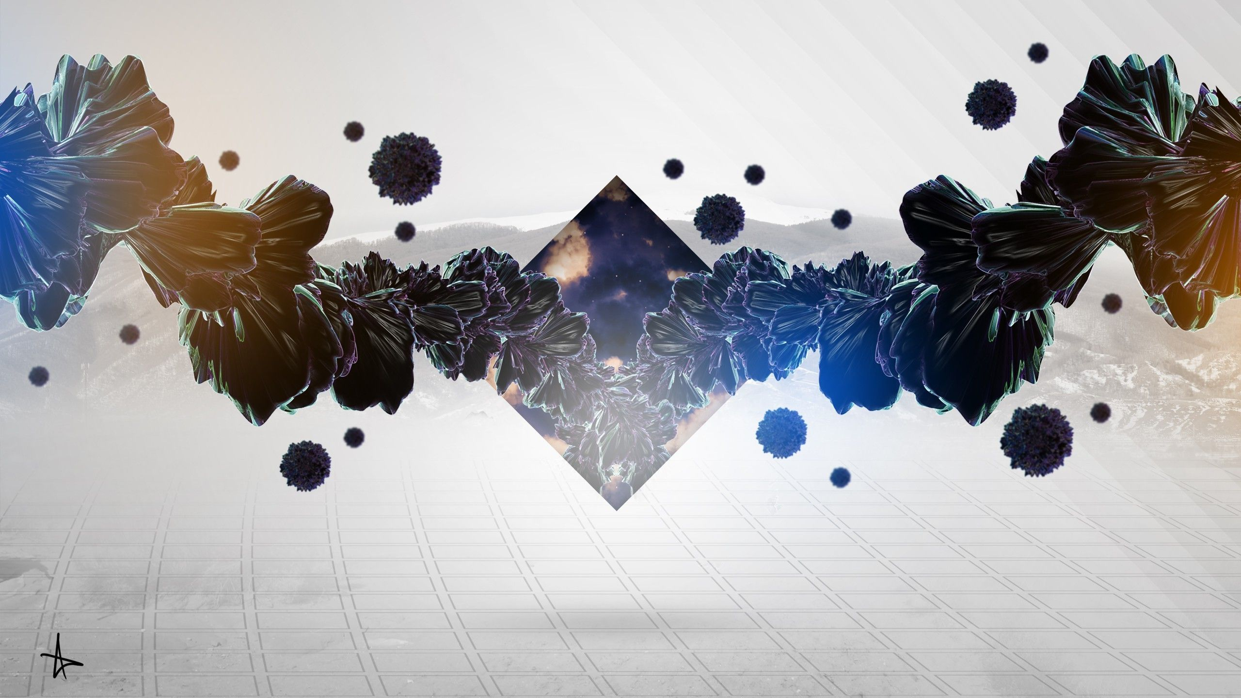 2560x1440 digital Art, Adobe Photoshop, Abstract, Triangle Wallpapers HD ...