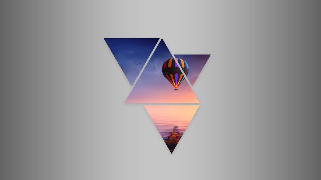 1280x720 Photoshop Tutorial : How to create geometric shape wallpaper in ...