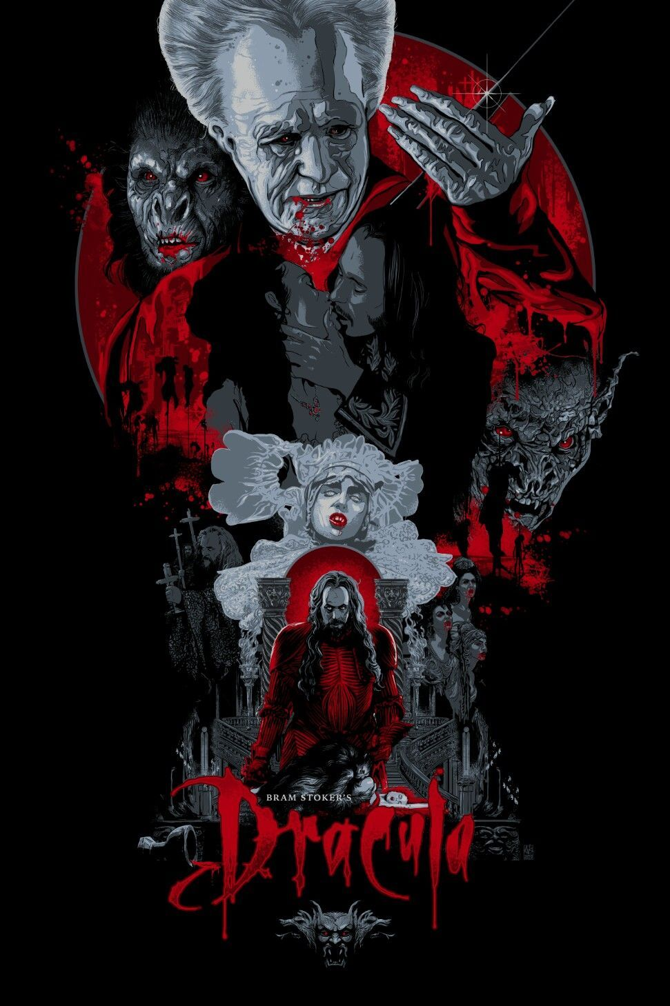 971x1459 Dracula by Vance Kelly | Horror posters, Movie poster art, Horror