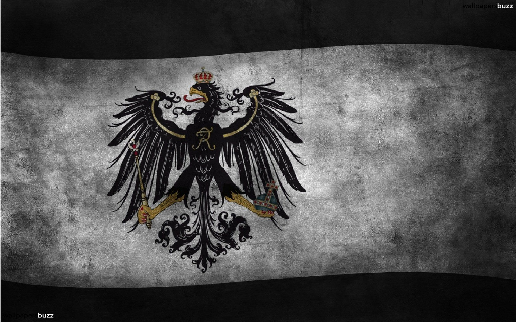 1680x1050 The flag of Prussia HD Wallpaper