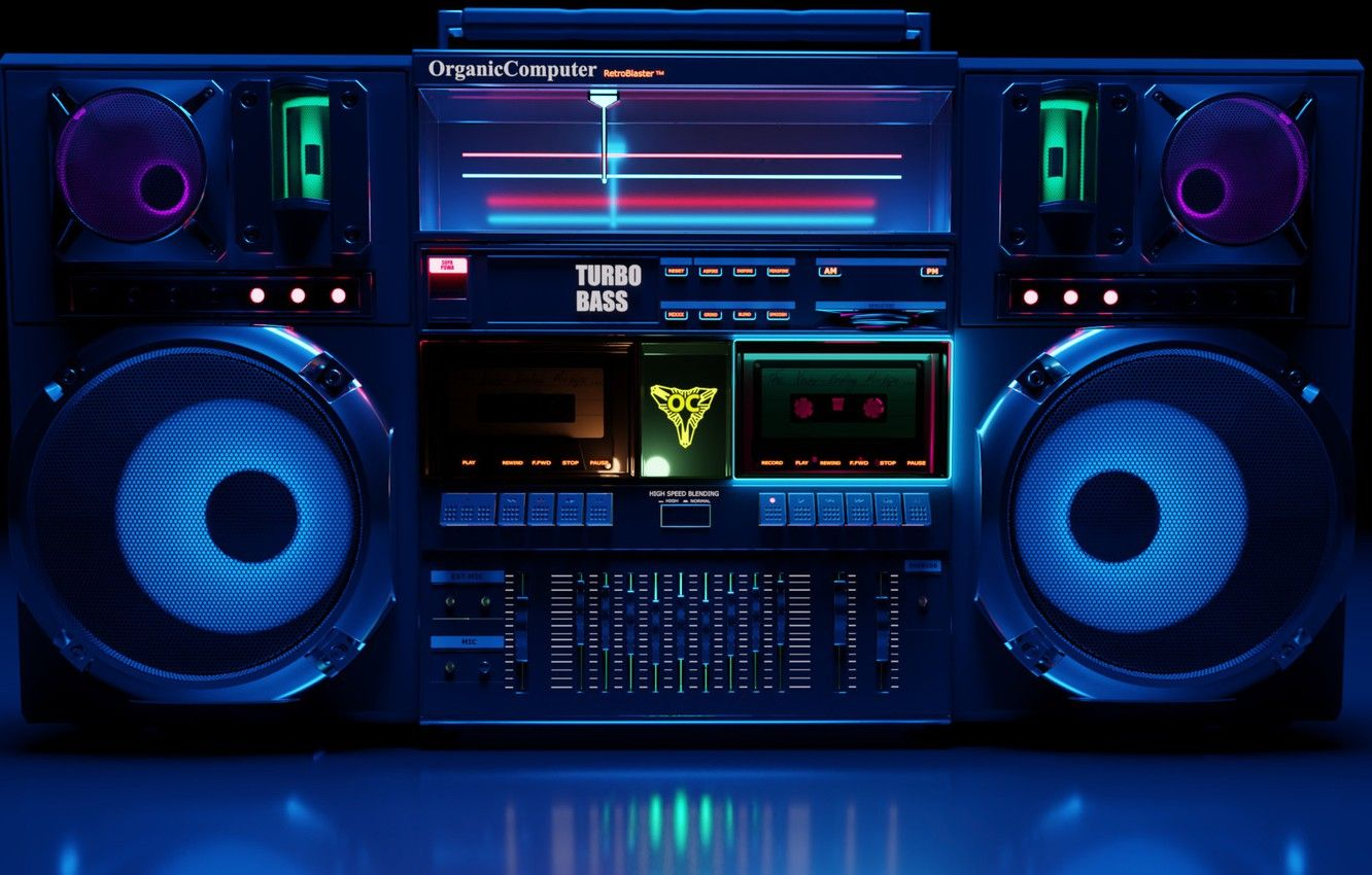 1332x850 Wallpaper Music, Style, Background, 80s, Style, Tape, Neon ...