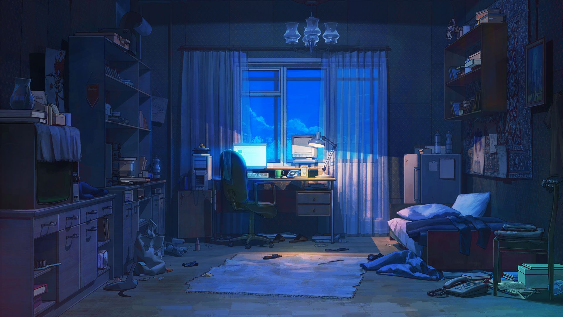 1920x1080 Mixtape Cover Background 110 | Anime scenery wallpaper, Anime ...