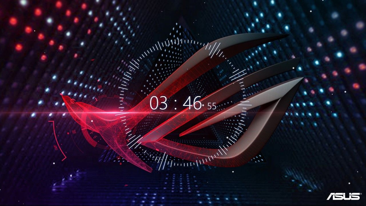 1280x720 4K Wallpaper Engine with Audio Visualizer ft Asus ROG wallpaper ...