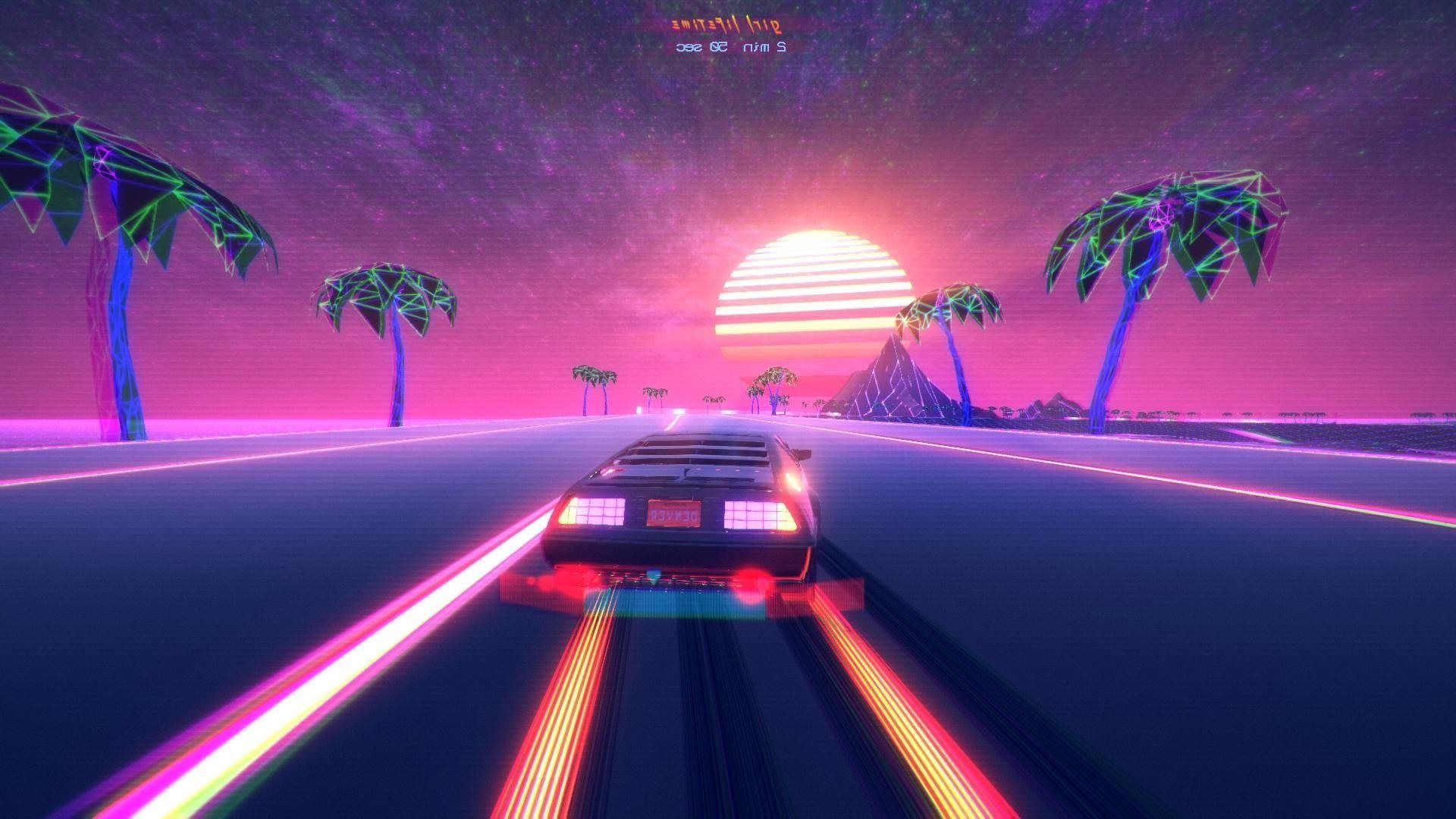1920x1080 Outrun Wallpaper Hd Groovy Wallpapers - Out Drive (#310334) - HD ...