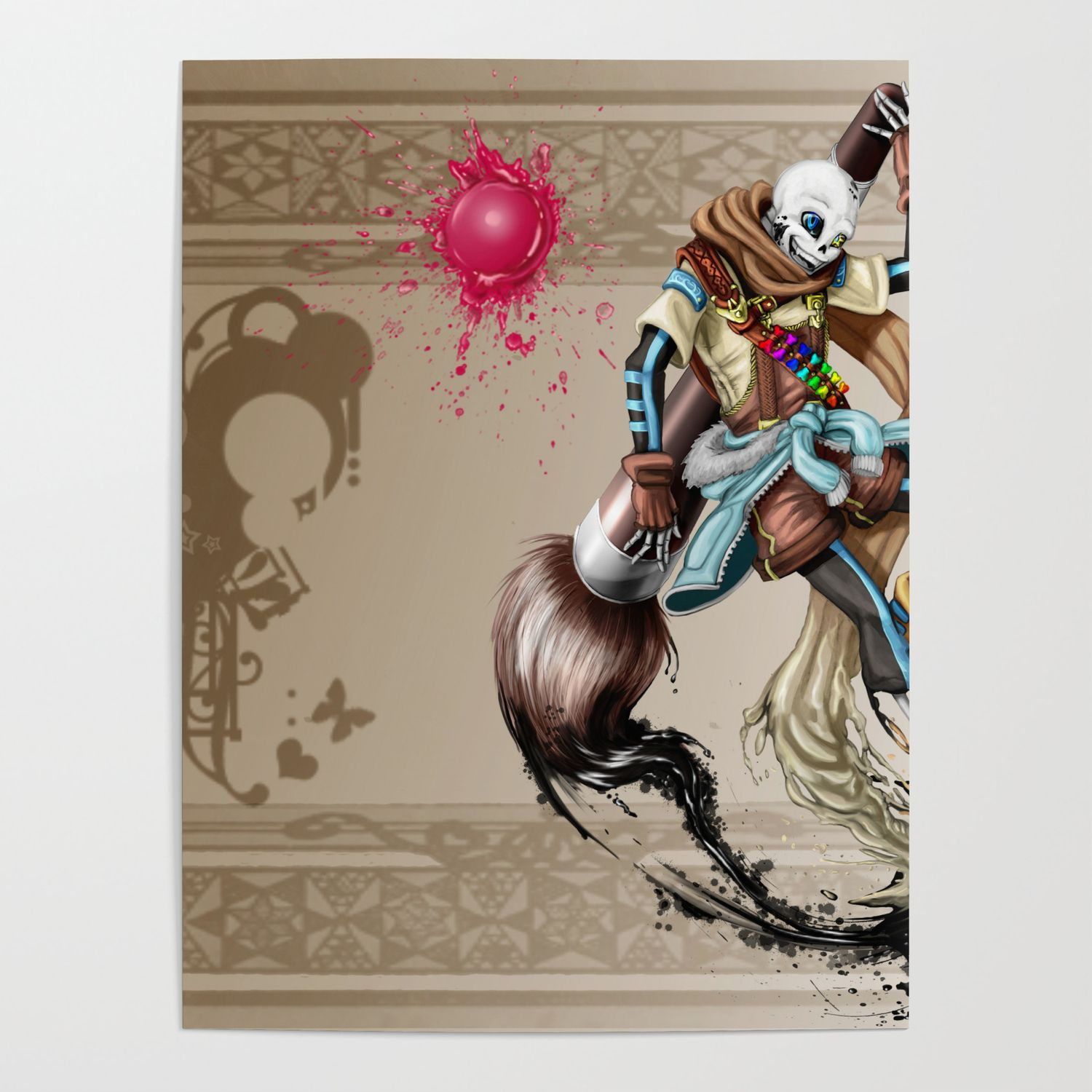 1500x1500 InkSans - Wallpaper Poster by theblueunicorn | Society6