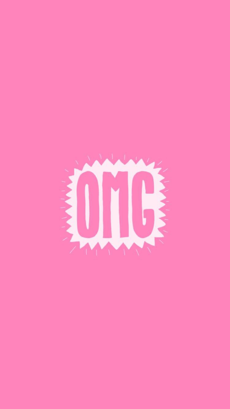 750x1334 Cute Pink OMG Snapchat #background #wallpaper | Cute pink