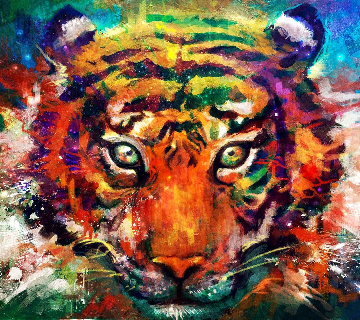1440x1280 Trippy Tiger wallpaper by at1988 • ZEDGE™ - free your phone