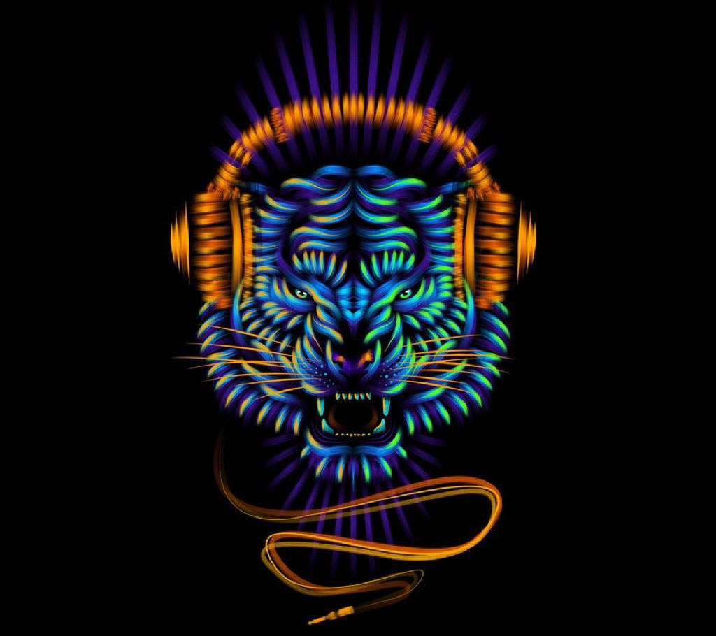 1024x910 Download Trippy Tiger wallpapers to your cell phone - colors cool ...