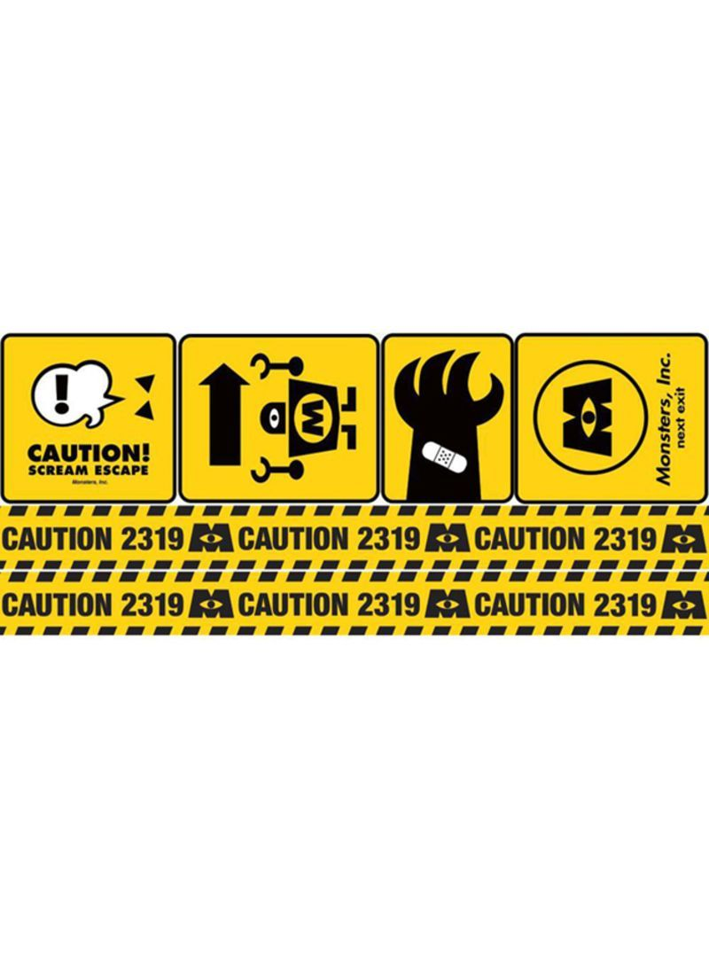 800x1091 Monsters Inc Caution Sign Disney 2 Wallpaper Yellow/black ...