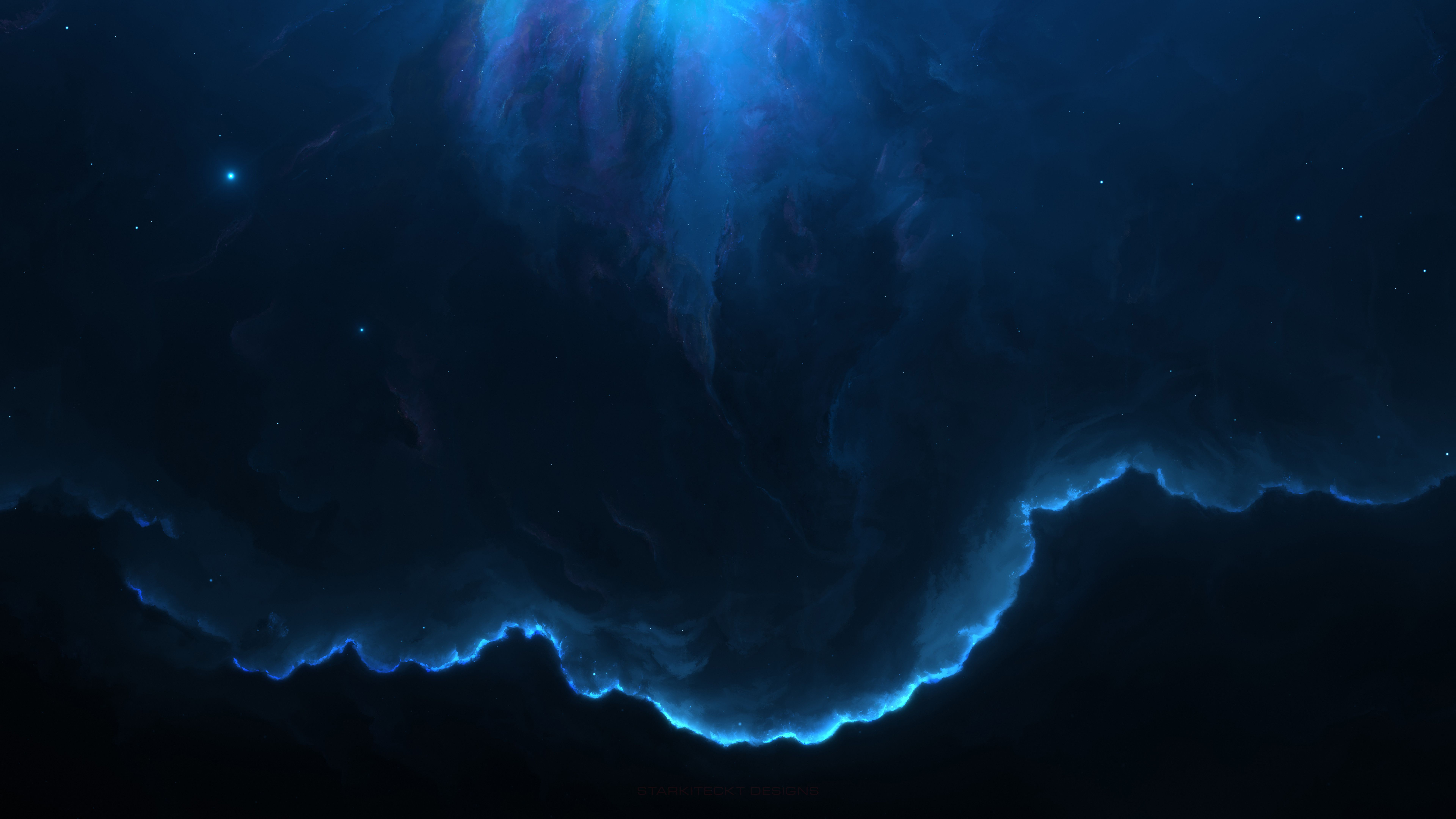 7680x4320 7680x4320 Nebula Space Blue 12k 8k HD 4k Wallpapers, Images ...