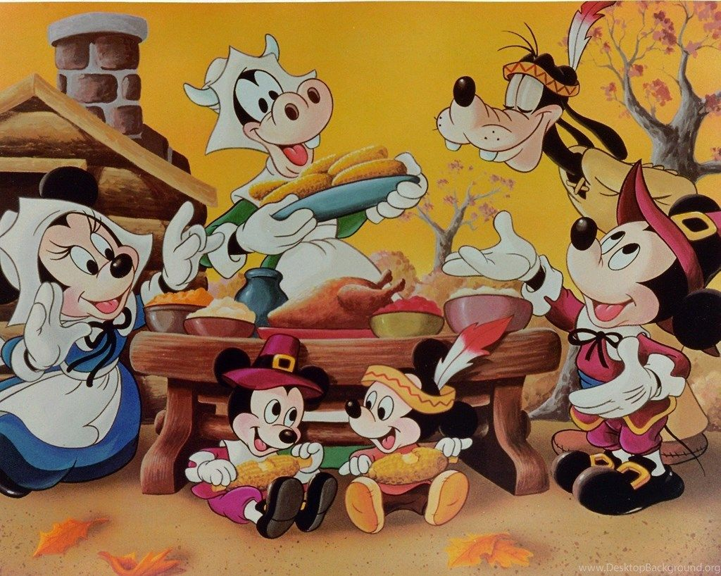 1024x818 Free Mickey Mouse Thanksgiving Wallpapers Desktop Background