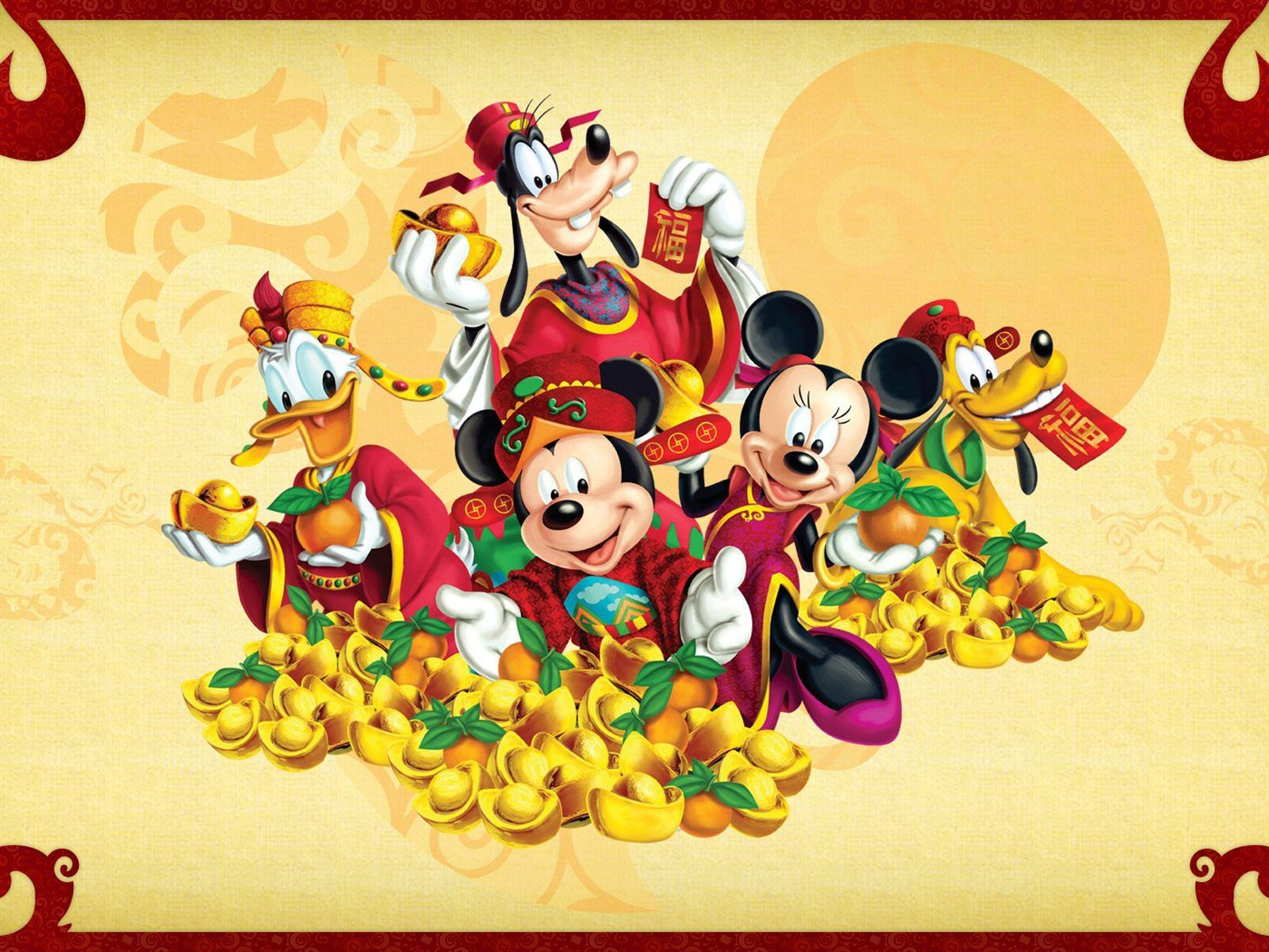 1600x1200 Mickey And Minnie Mouse Donald Duck And Pluto Cartoon Disney ...