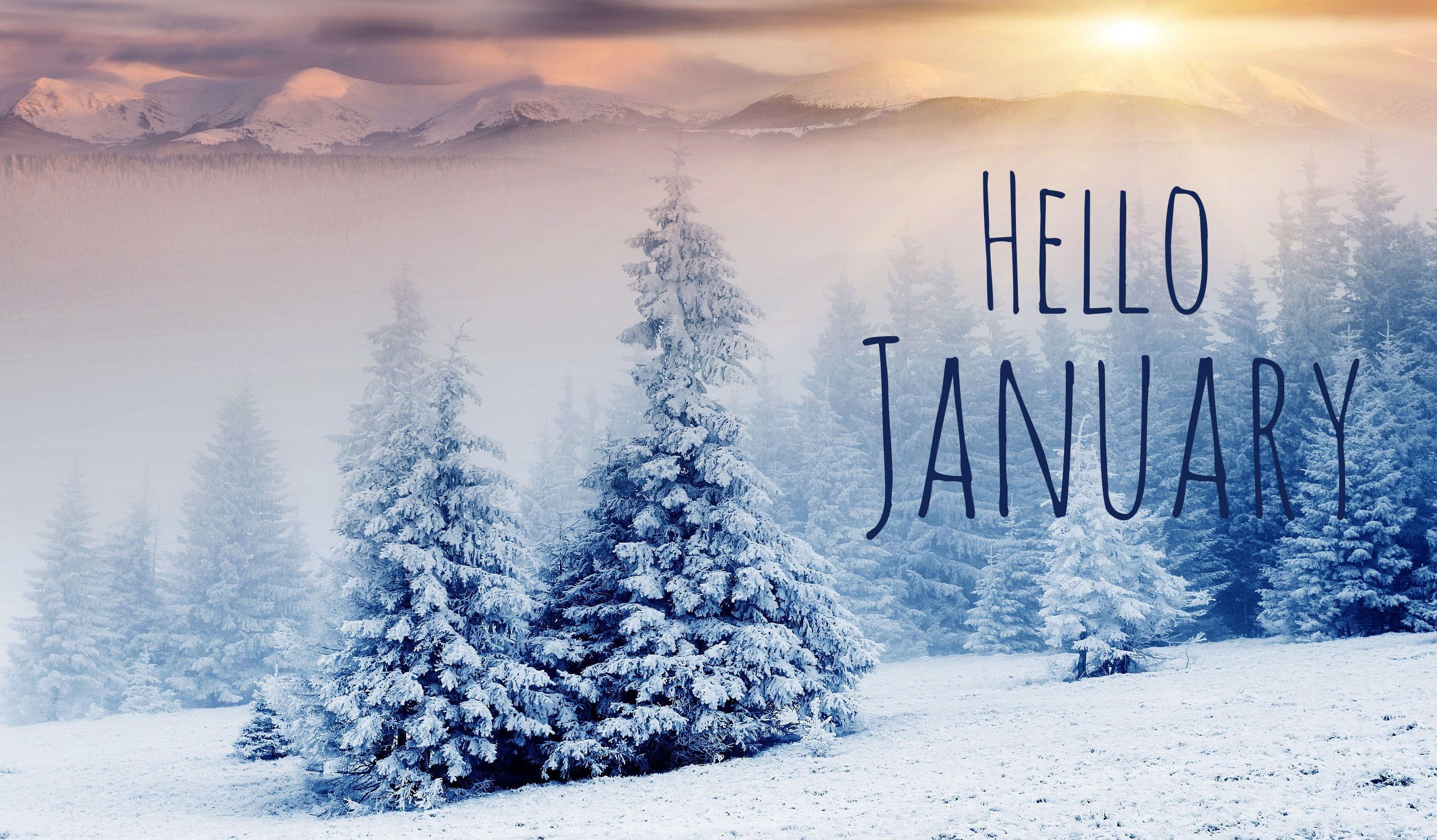 2880x1684 Hello January Images Free Download | January images, January ...