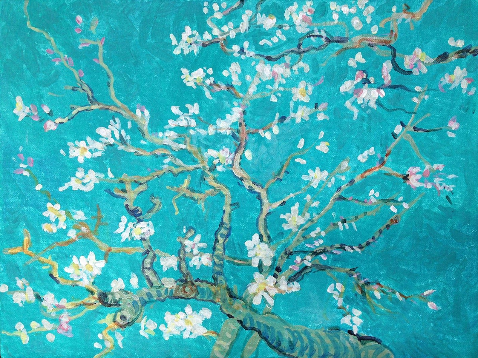 1600x1200 Wiley Purkey: Wine and Paint Class - Van Gogh's Almond Blossoms