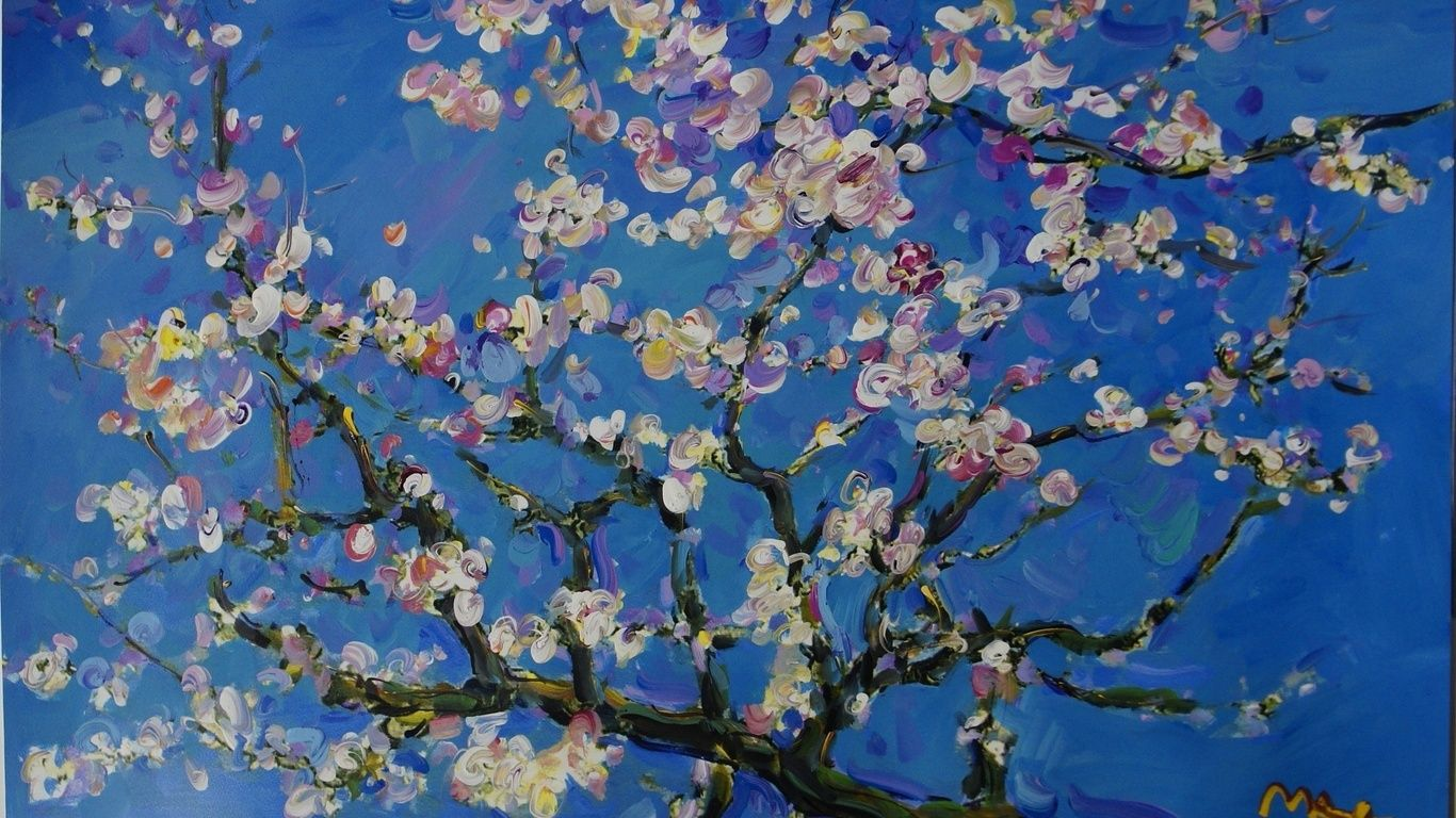 1366x768 1366x768 Arts, Paintings, Vincent Van Gogh, Blossom ...