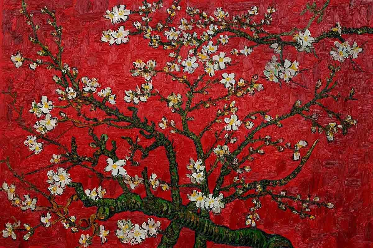1200x800 Branches of an Almond Tree in Blossom by Van Gogh Famous handmade ...
