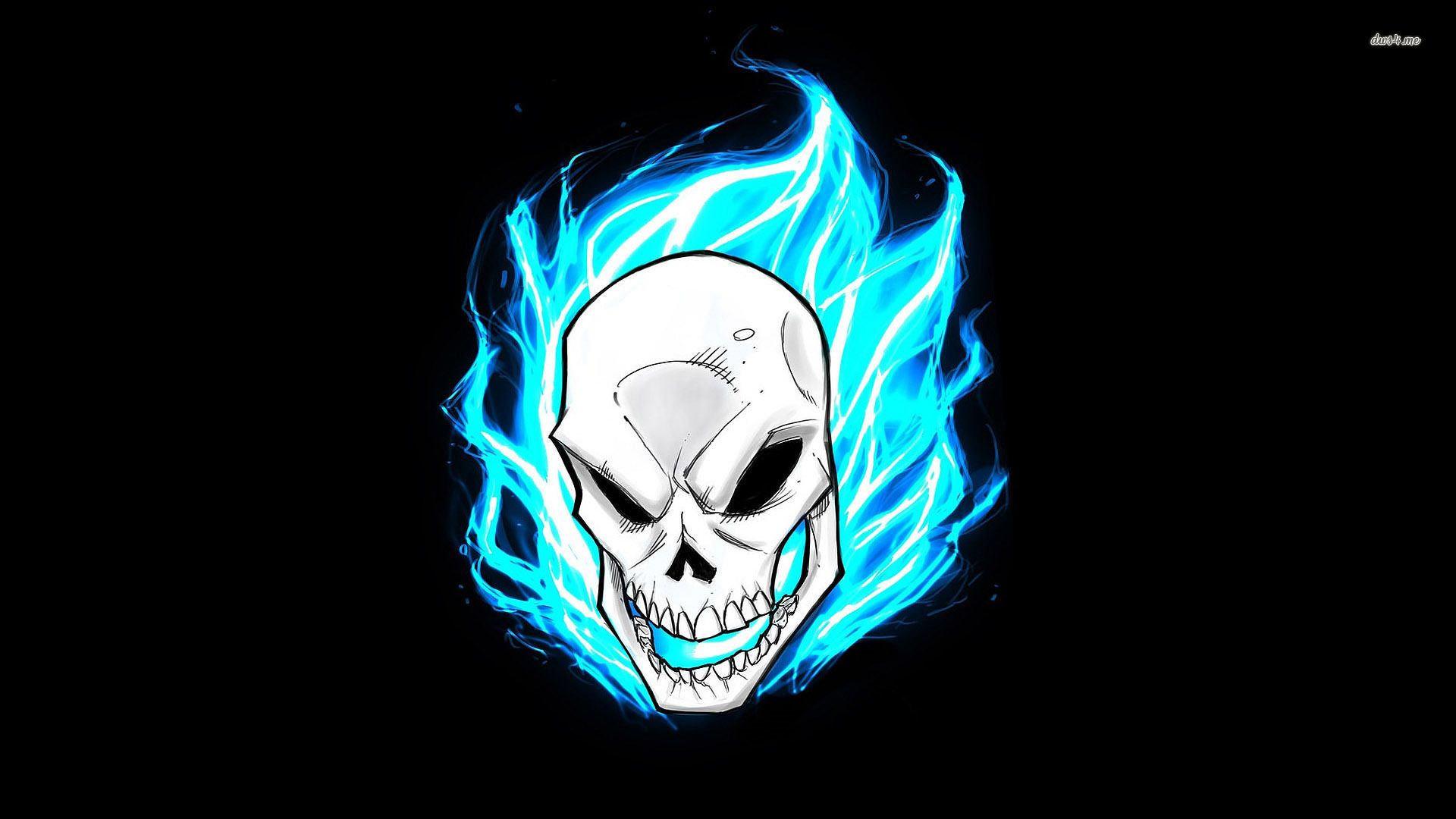 1920x1080 Blue flames surrounding the Ghost Rider wallpaper - Comic ...