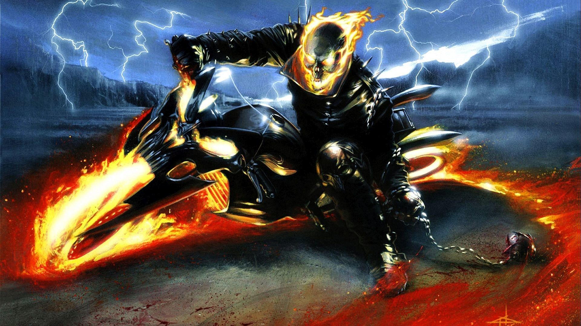 1920x1080 Ghost Rider Bike Wallpapers (58+ images)