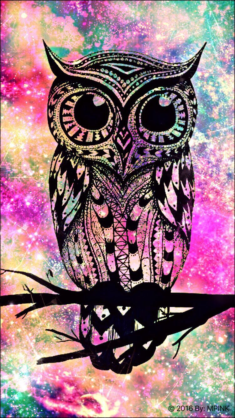 750x1334 Owl Hipster Galaxy | Wallpaper 4 my phone | Pinterest | Owl and ...