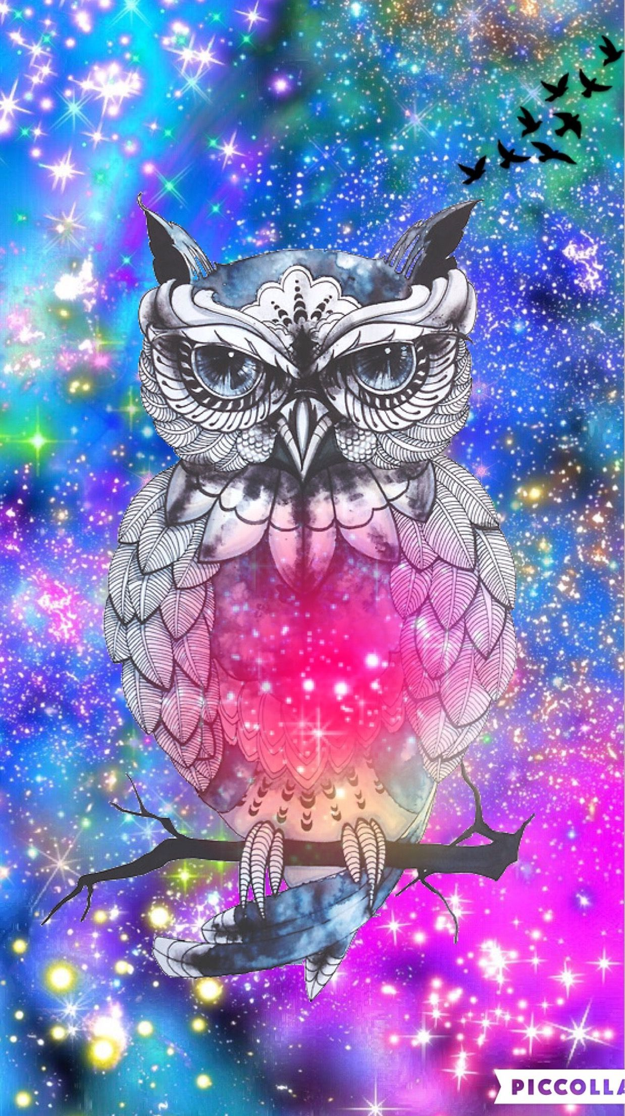 1238x2208 Hipster owl galaxy by rose | Galaxy / Clouds Wallpaper ...