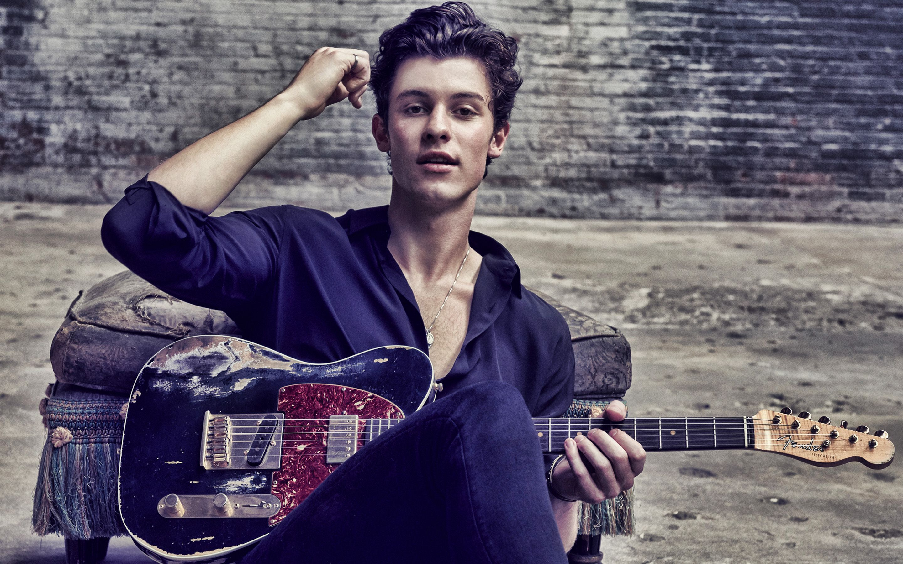 2880x1800 Download wallpapers Shawn Mendes, photo shoot, black suit ...