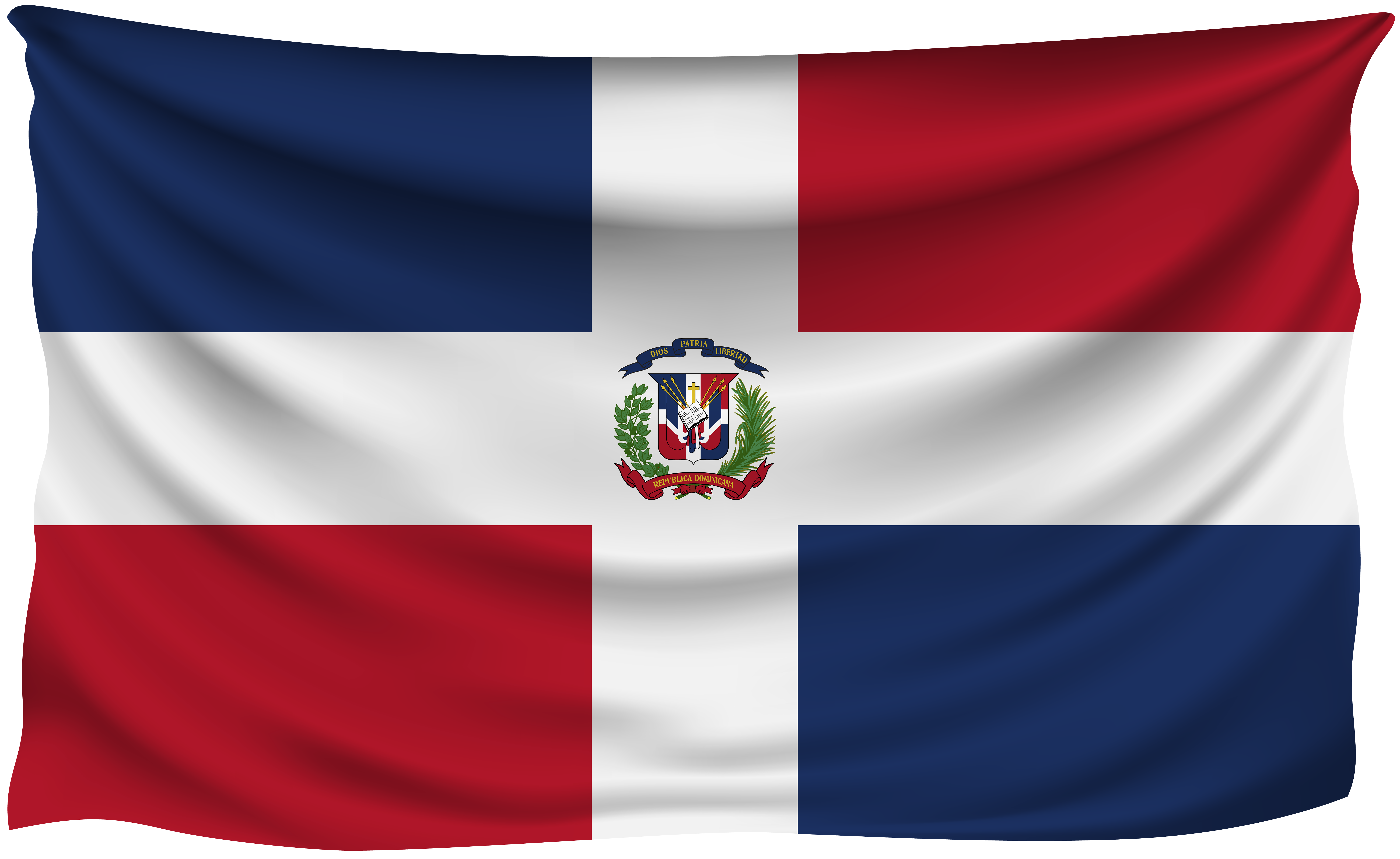 8000x4912 Dominican Republic Wrinkled Flag   Gallery Yopriceville - High ...