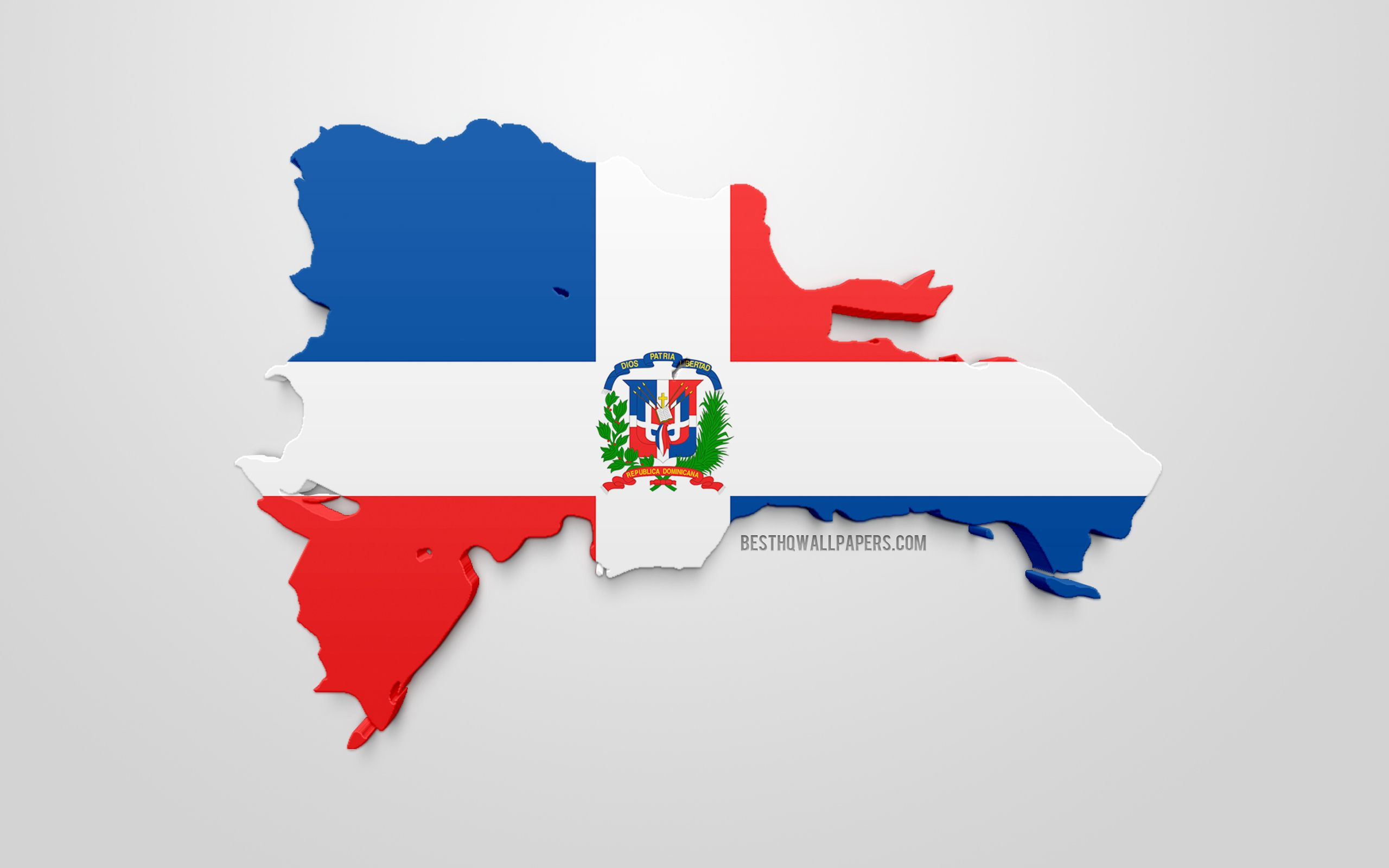 2560x1600 59 Pm 10467 Thumb 3d Flag Of Dominican Republic Silhouette ...