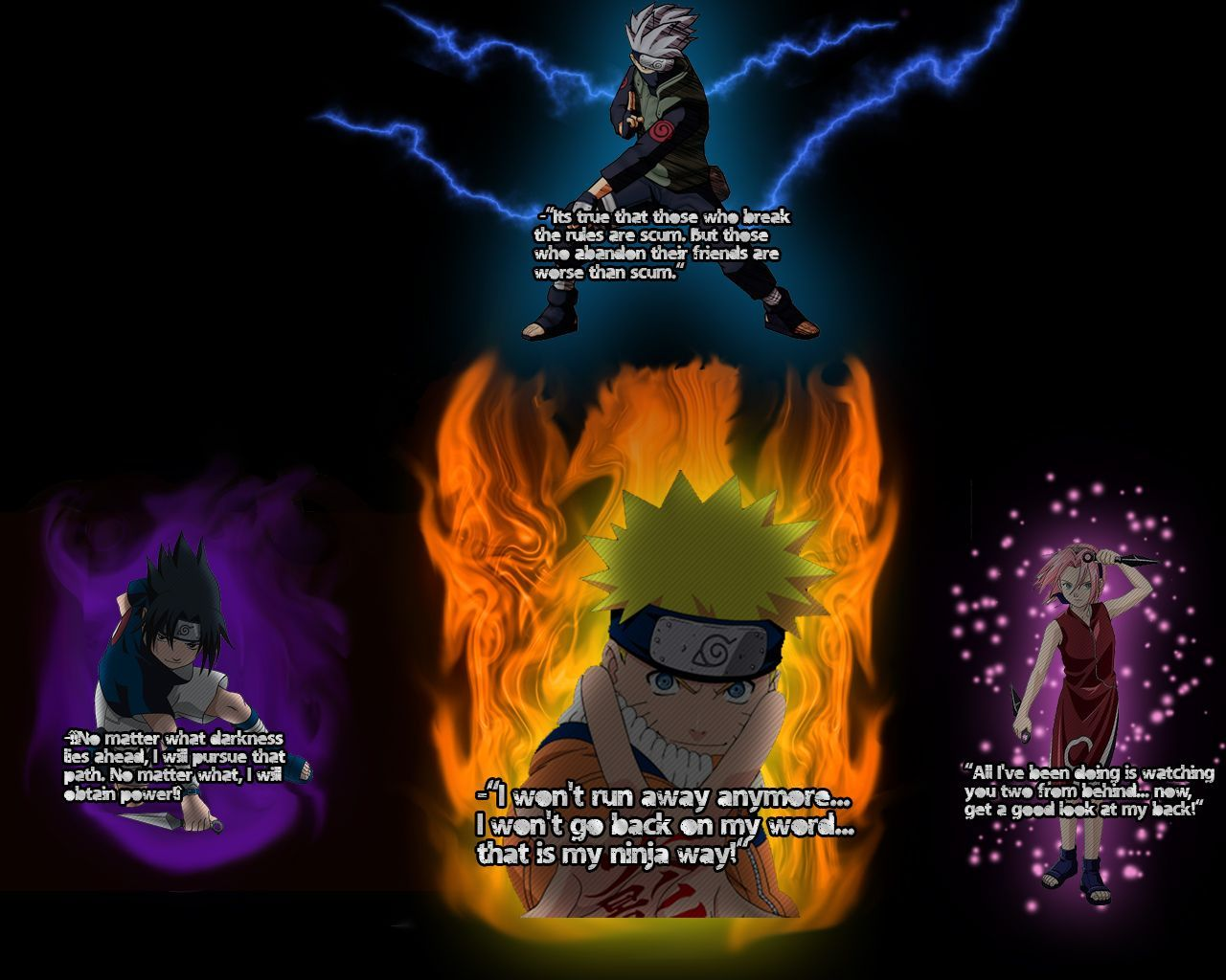 1280x1024 Naruto Quotes Wallpapers
