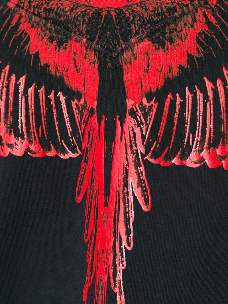 800x1067 Marcelo Burlon Wing Print Sweatshirt in Black - Lyst