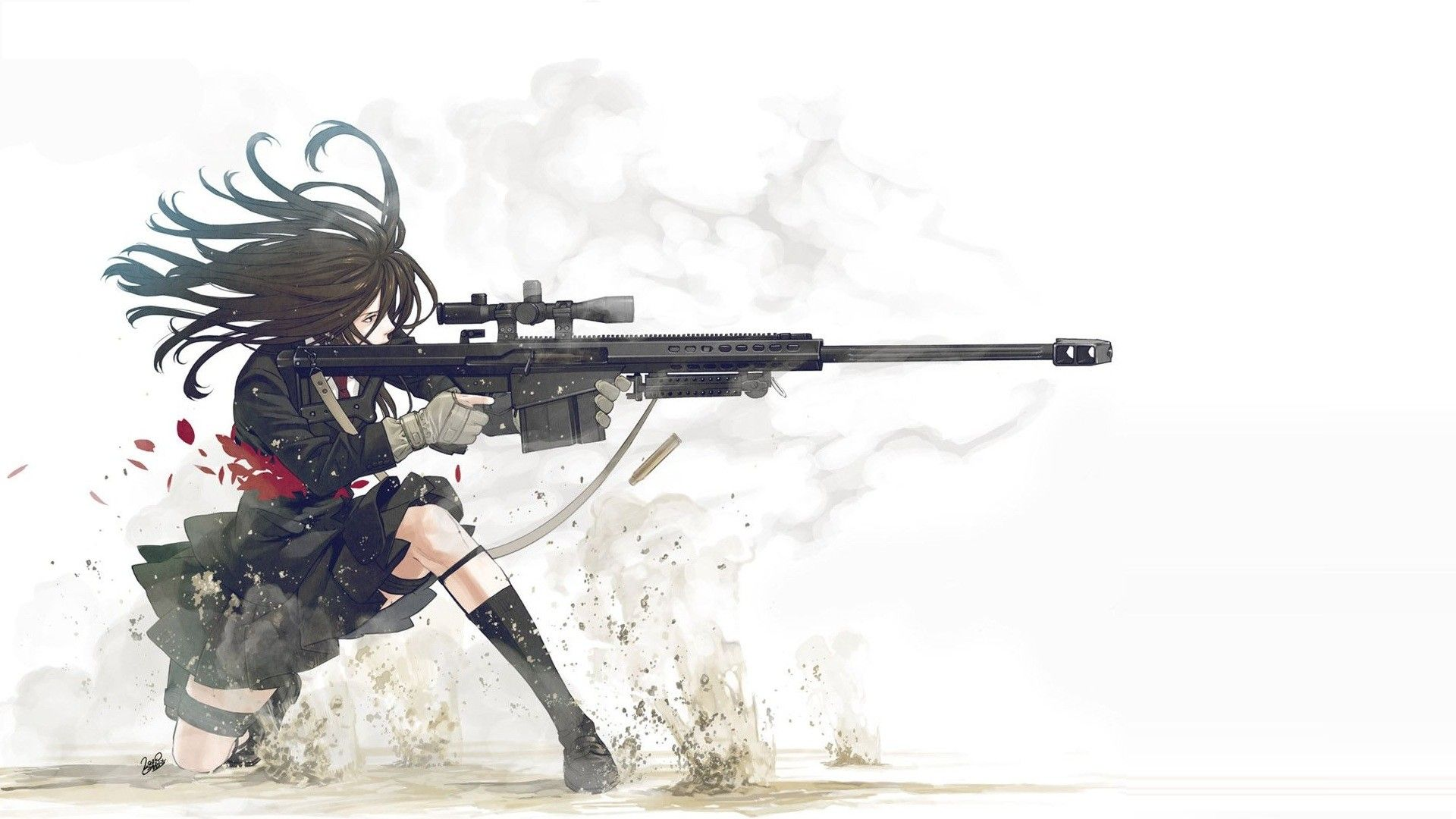 1920x1080 New Anime Girl Gun Wallpaper Design - Anime Wallpaper HD