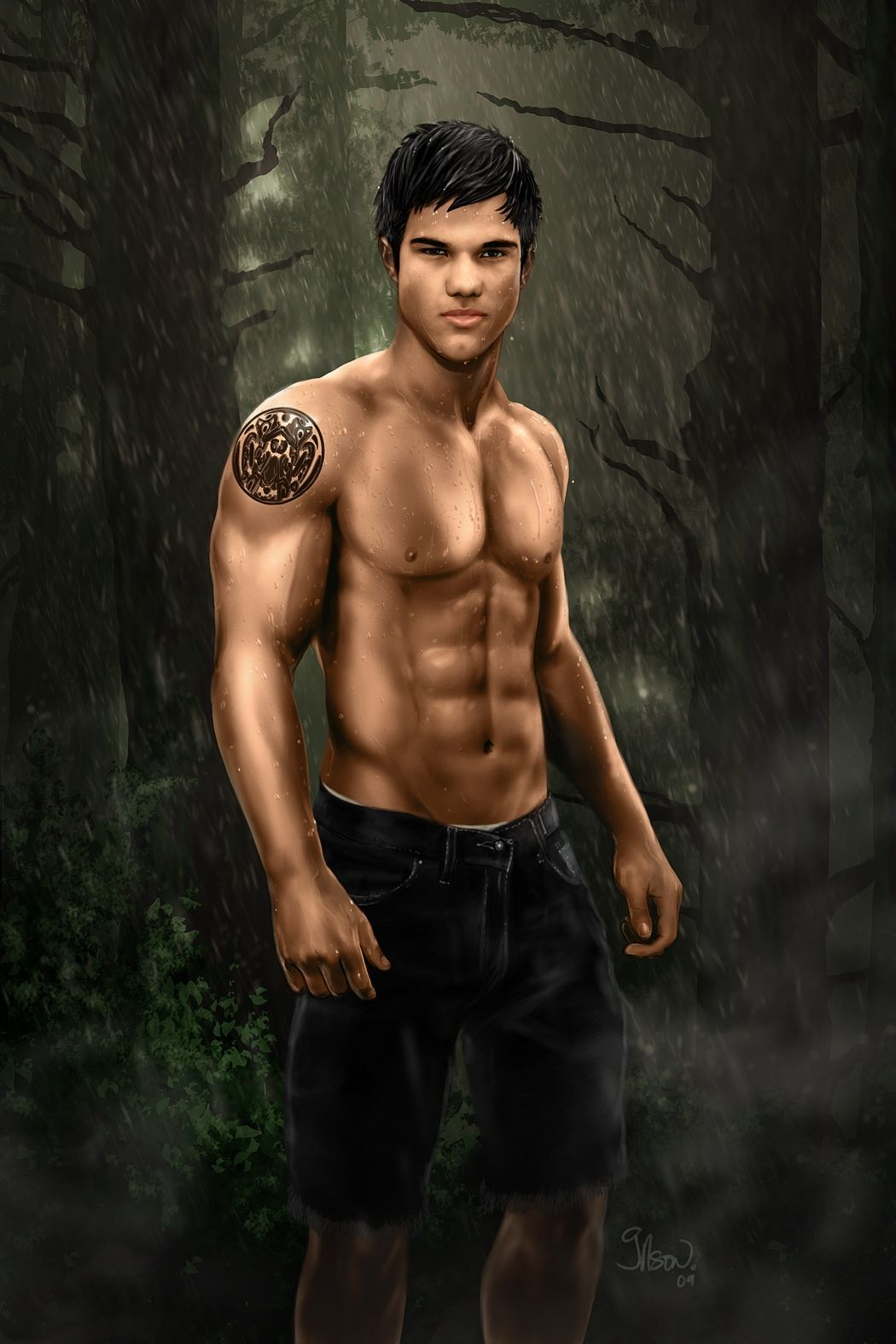 1050x1575 Taylor Lautner In Fan Creations - Jacob Taylor Lautner Abs ...