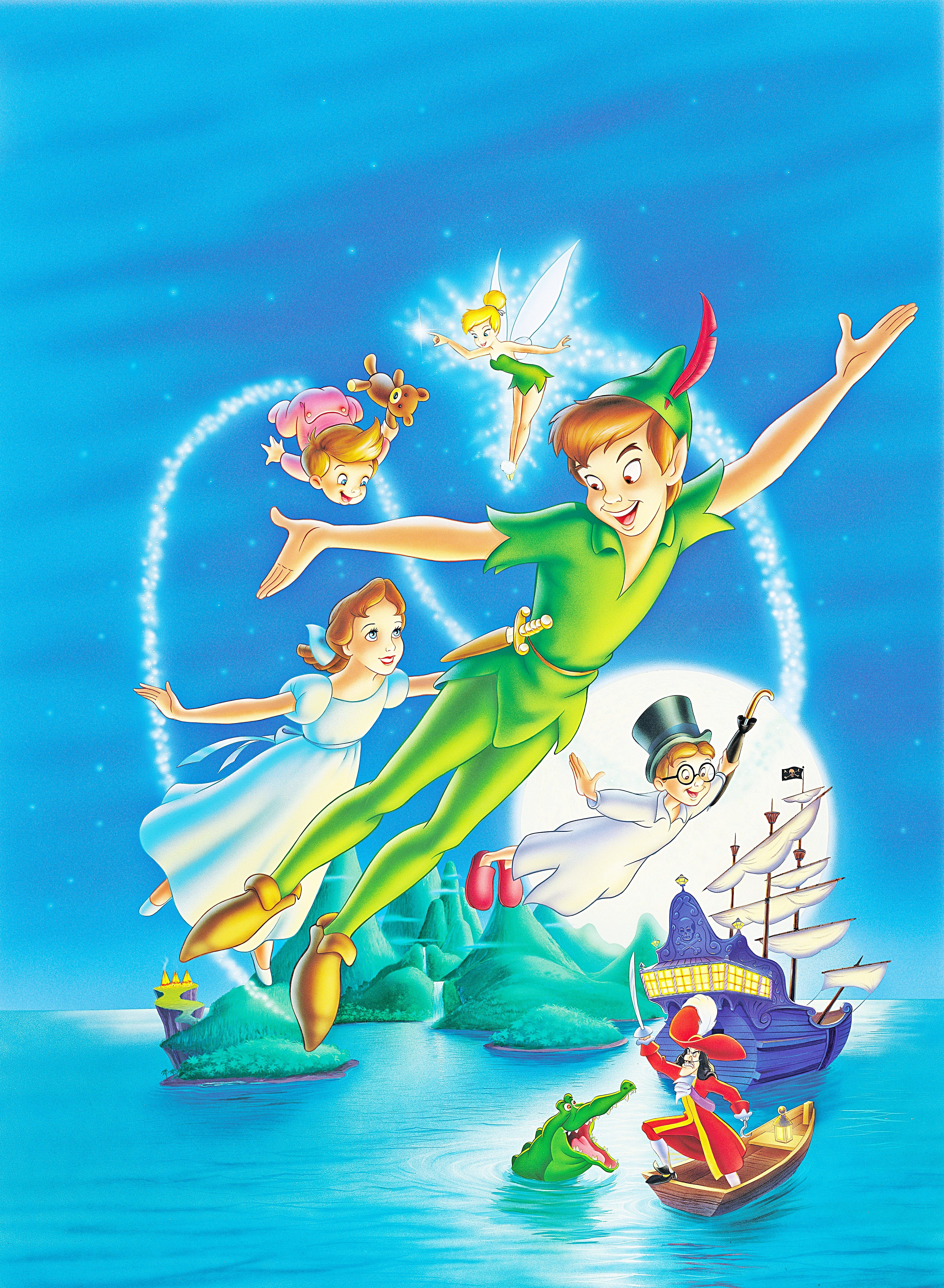 3663x5000 Walt Disney Posters Peter Pan Widescreen Background Image for iPhone ...