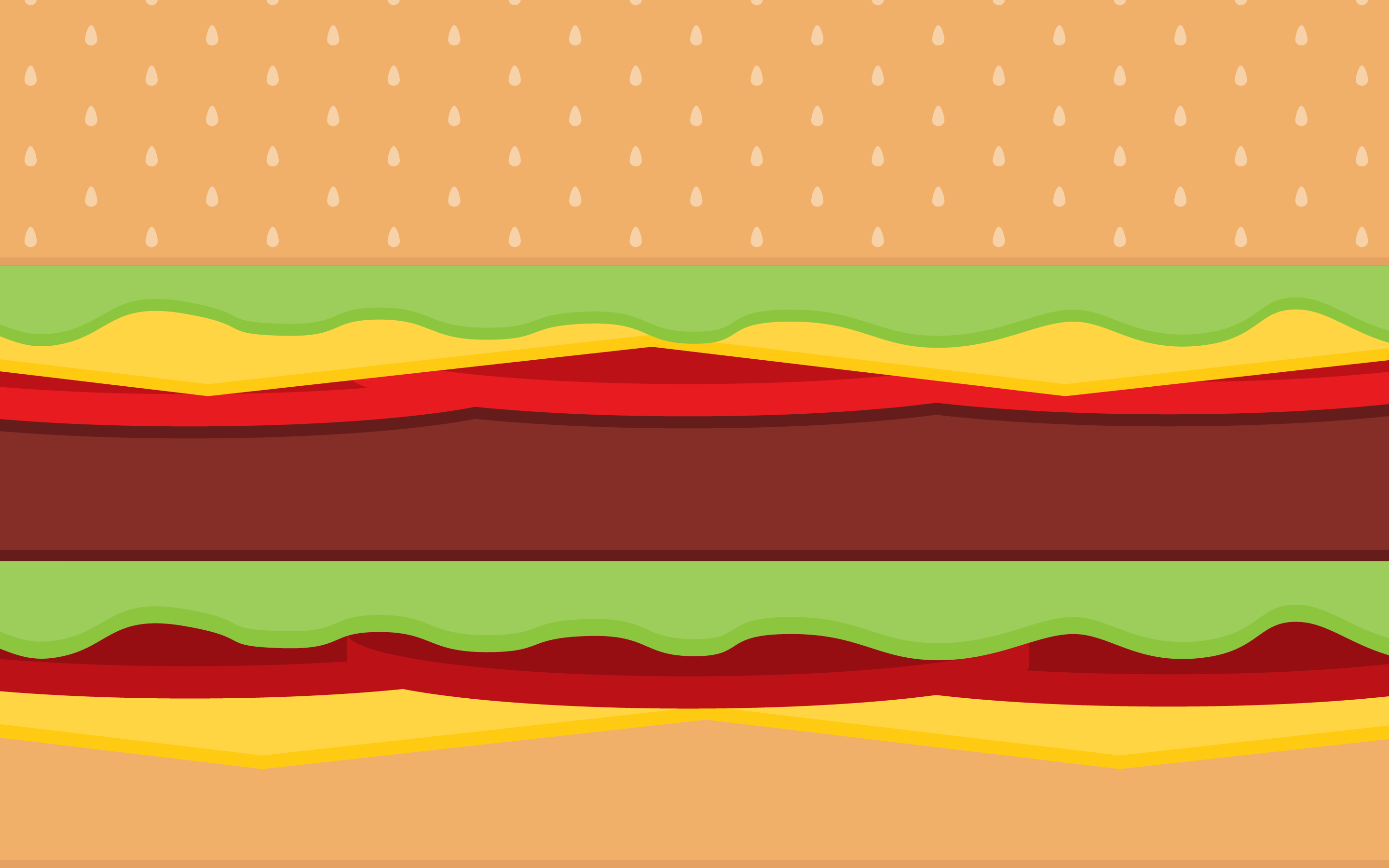 2880x1800 Vector Burger Time Background WallPaper HD - http://imashon.com ...