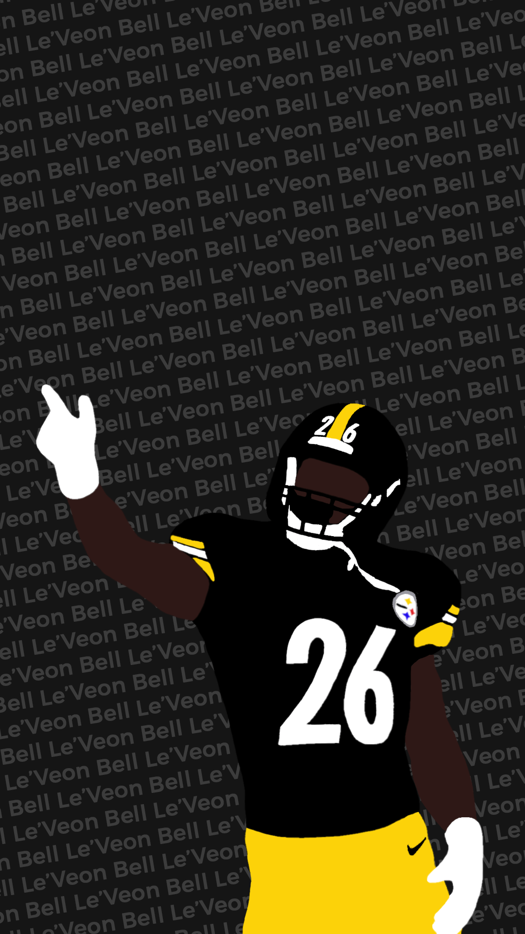 1080x1920 I made another wallpaper, this one with Le'Veon Bell : steelers