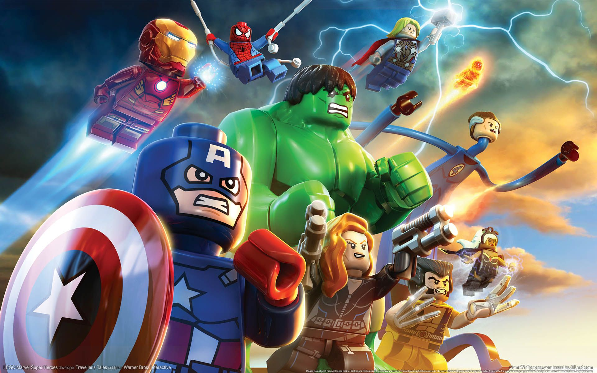 1920x1200 Lego Marvel Super Heroes Game HD Wallpaper for Desktop - Game HD ...