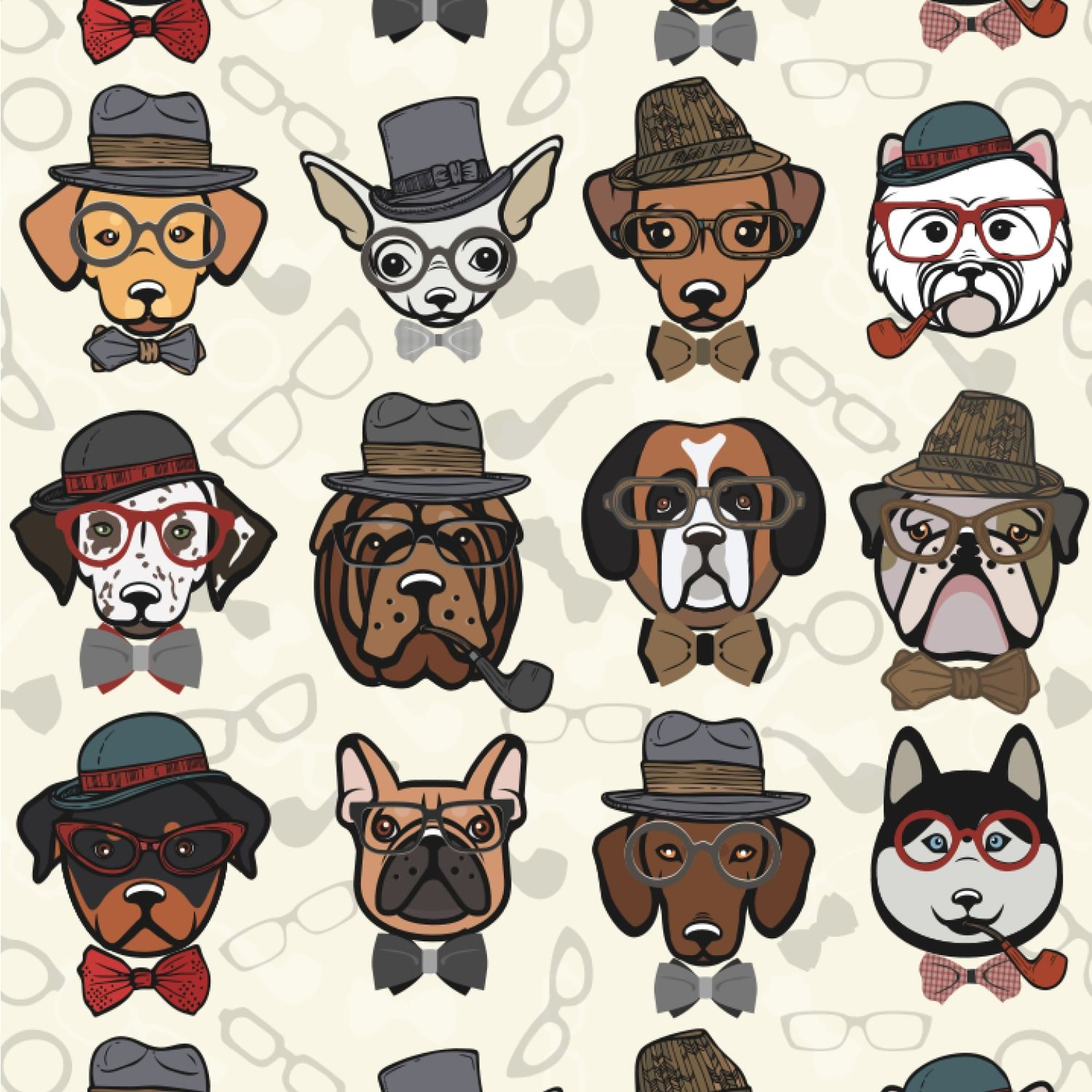 1500x1500 2020 Other | Images: Hipster Dog Wallpaper