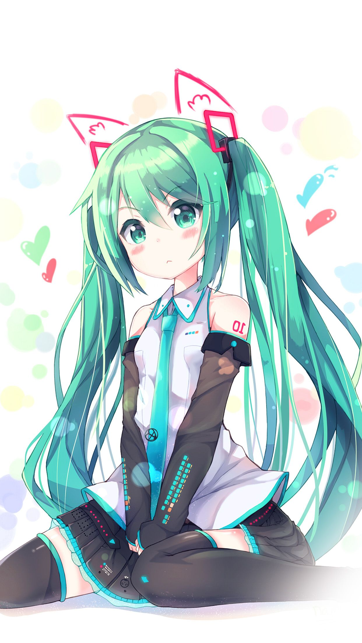 1242x2208 Hatsune Milk Anime Girl Illustration Art Android wallpaper - Android ...