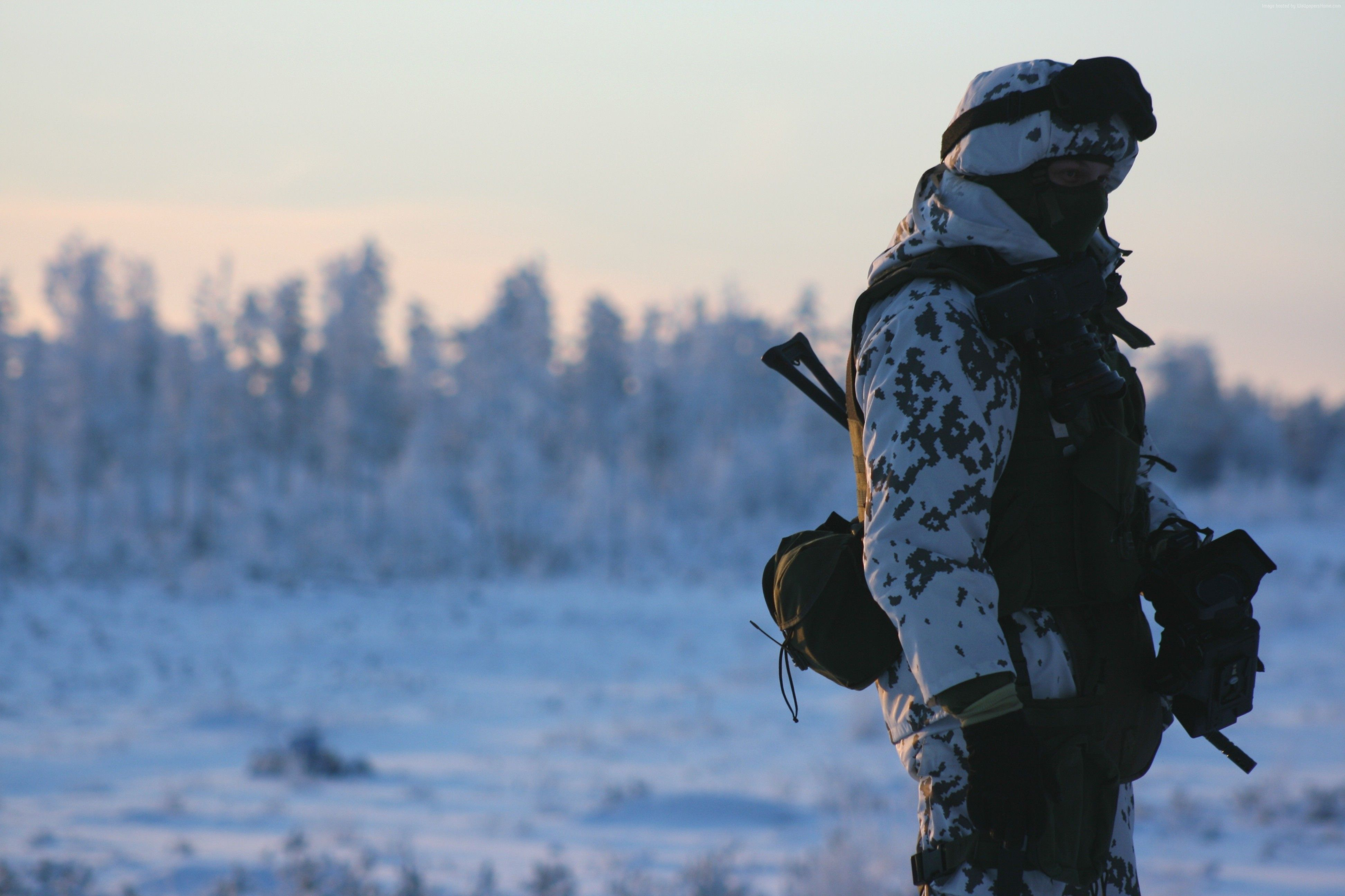 3888x2592 Wallpaper Russian Armed Forces, soldier, Russia, camo, winter, snow ...