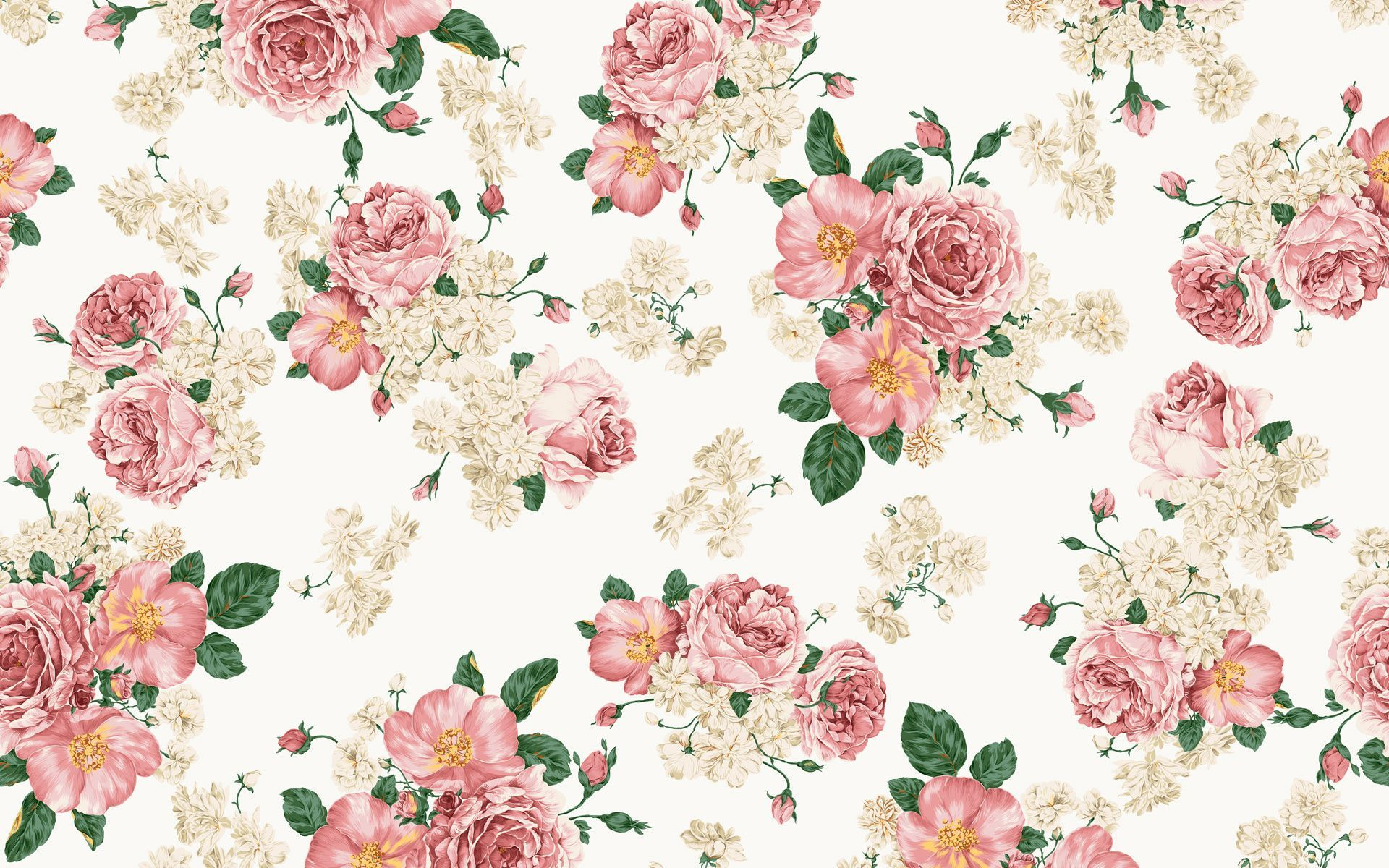 1920x1200 Flower Pattern Design Wallpaper High Resolution with HD Desktop ...