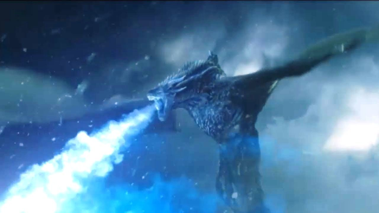 1280x720 Ice Dragon Night's King Game of Thrones Wallpaper | Dragons | Game ...
